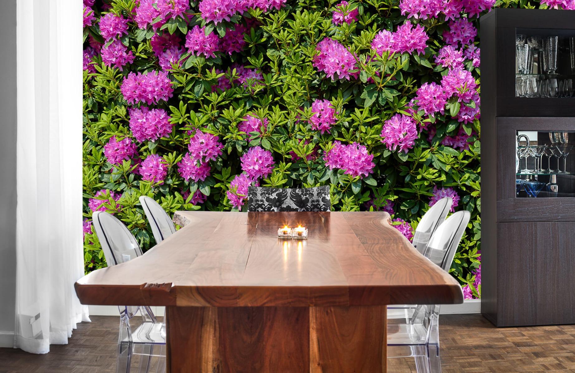 Bloemenvelden - Grote muur van rododendrons - Wallexclusive - Woonkamer 3