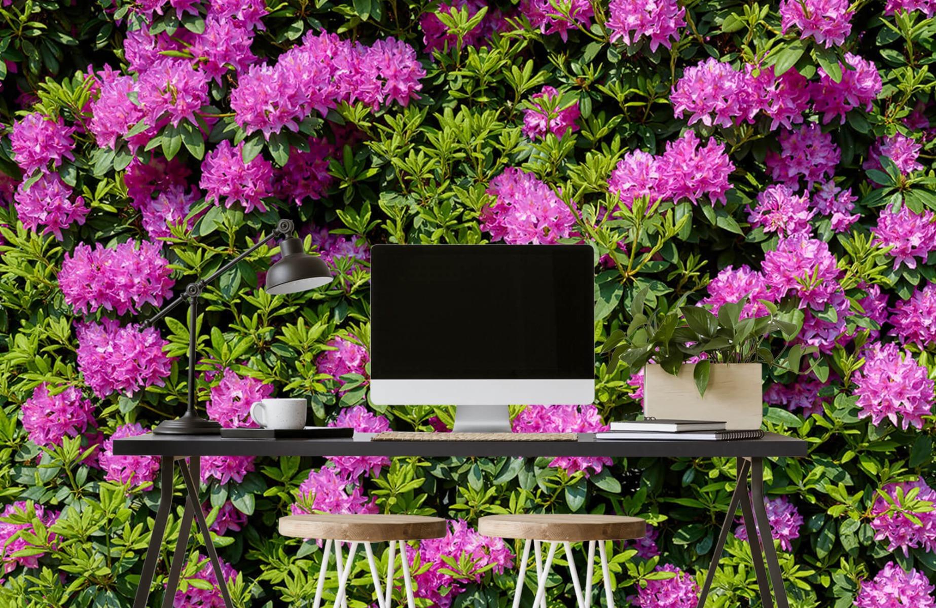 Bloemenvelden - Grote muur van rododendrons - Wallexclusive - Woonkamer 7