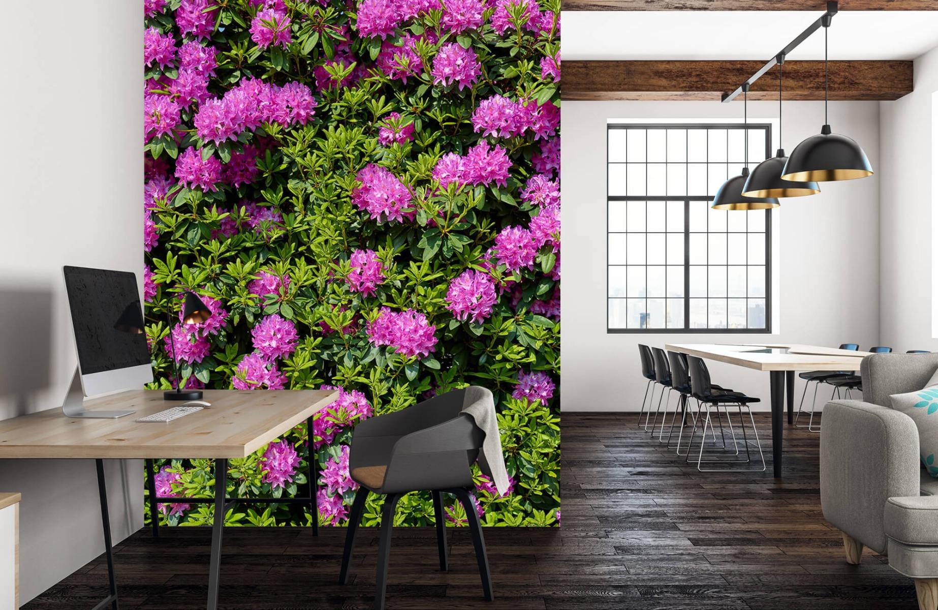 Bloemenvelden - Grote muur van rododendrons - Wallexclusive - Woonkamer 22