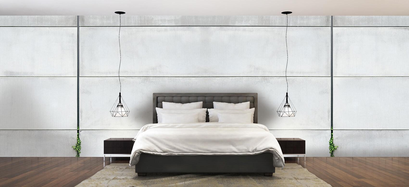 Betonlook behang - Panorama betonnen muur - Wallexclusive - Ontvangstruimte 2