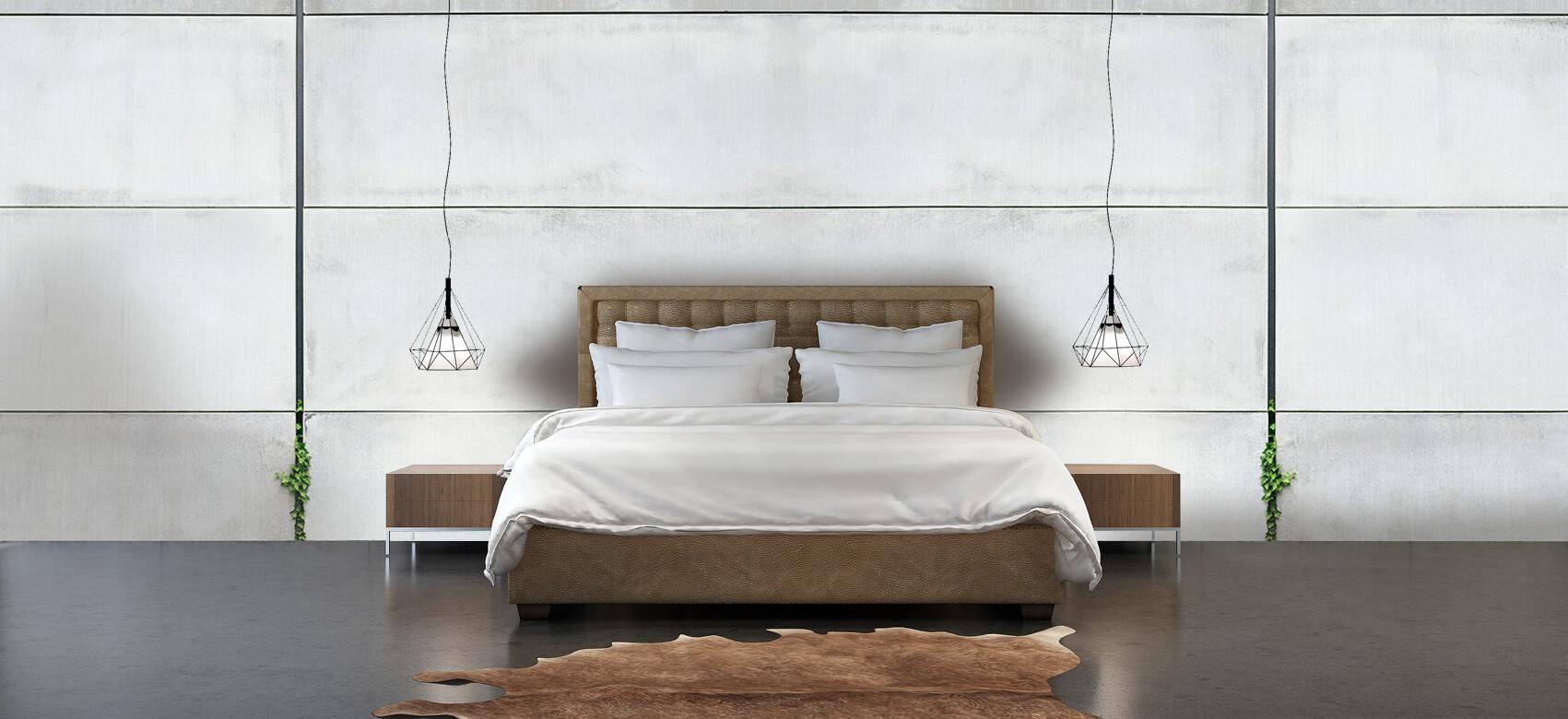 Betonlook behang - Panorama betonnen muur - Wallexclusive - Ontvangstruimte 3