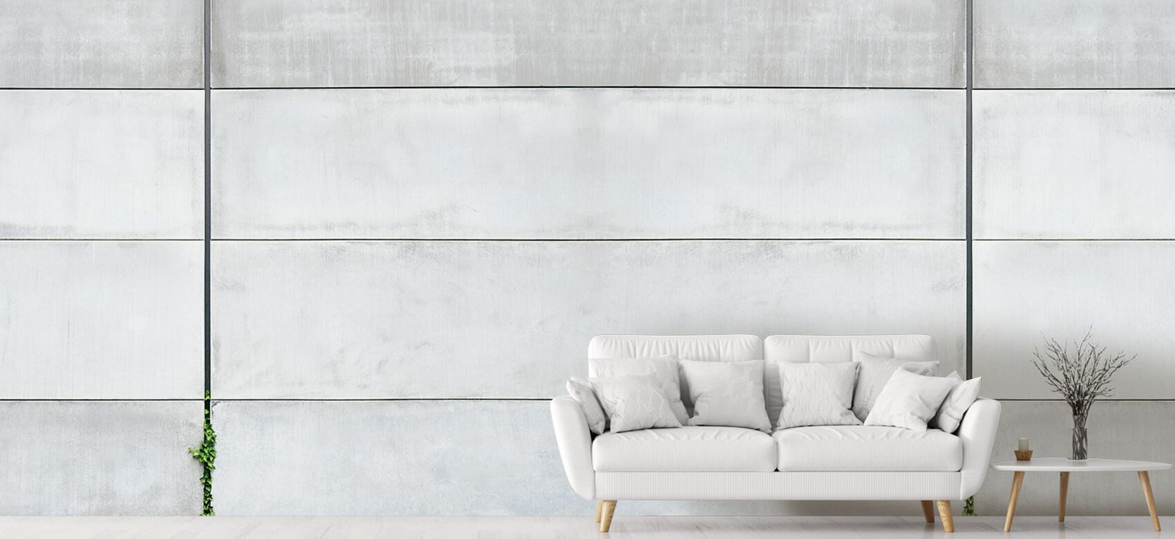 Betonlook behang - Panorama betonnen muur - Wallexclusive - Ontvangstruimte 4