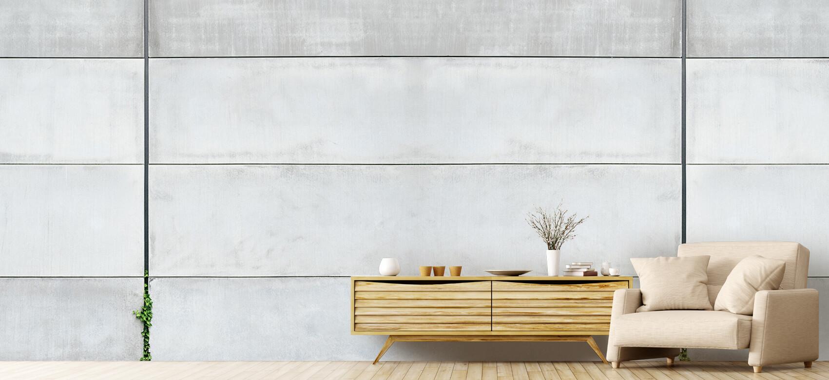Betonlook behang - Panorama betonnen muur - Wallexclusive - Ontvangstruimte 5