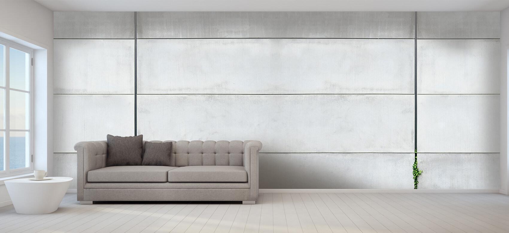 Betonlook behang - Panorama betonnen muur - Wallexclusive - Ontvangstruimte 6
