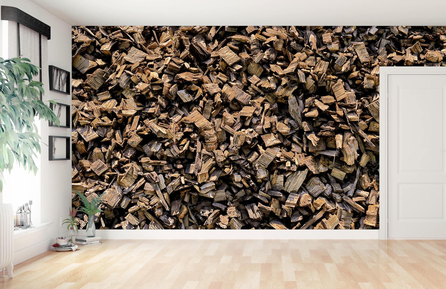 Hout behang - Houtsnippers - Wallexclusive - Hobbykamer 11