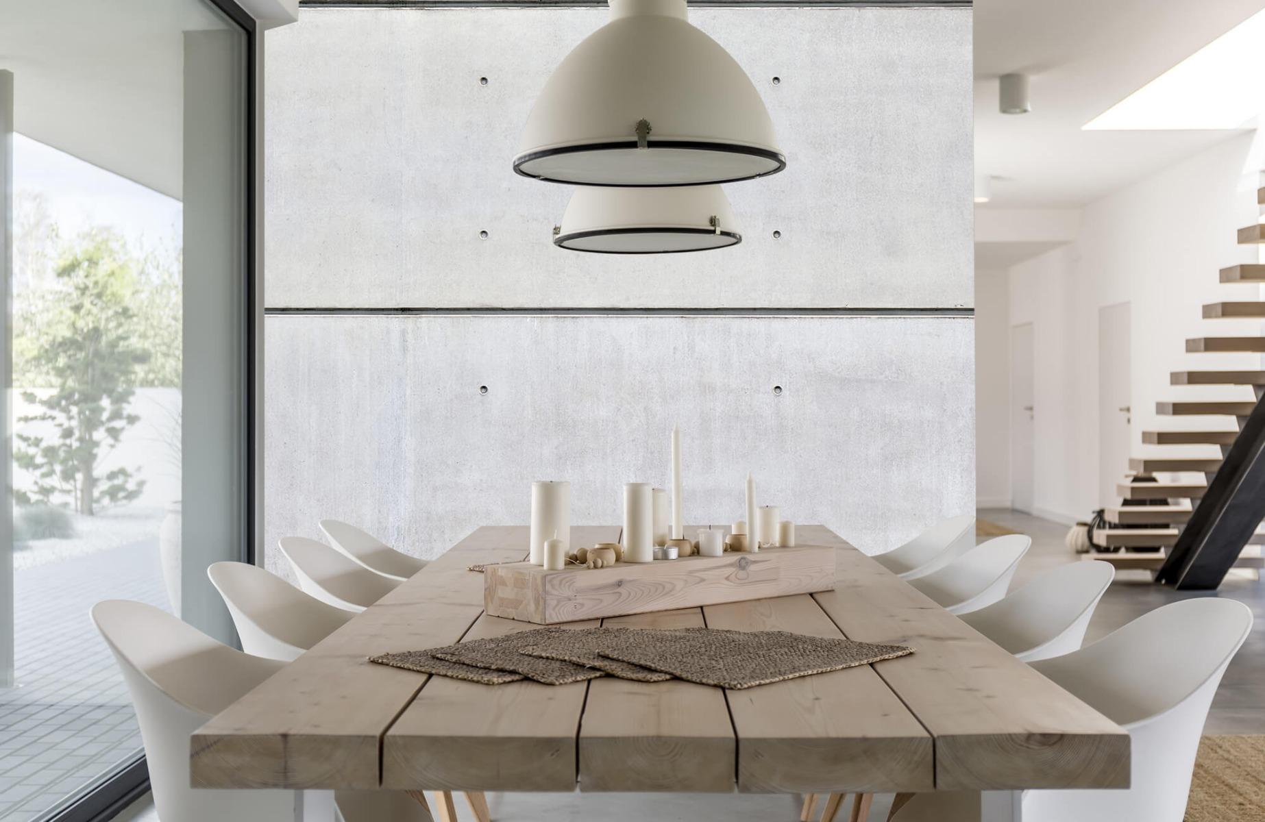 Betonlook behang - Horizontaal beton - Wallexclusive - Vergaderruimte 2