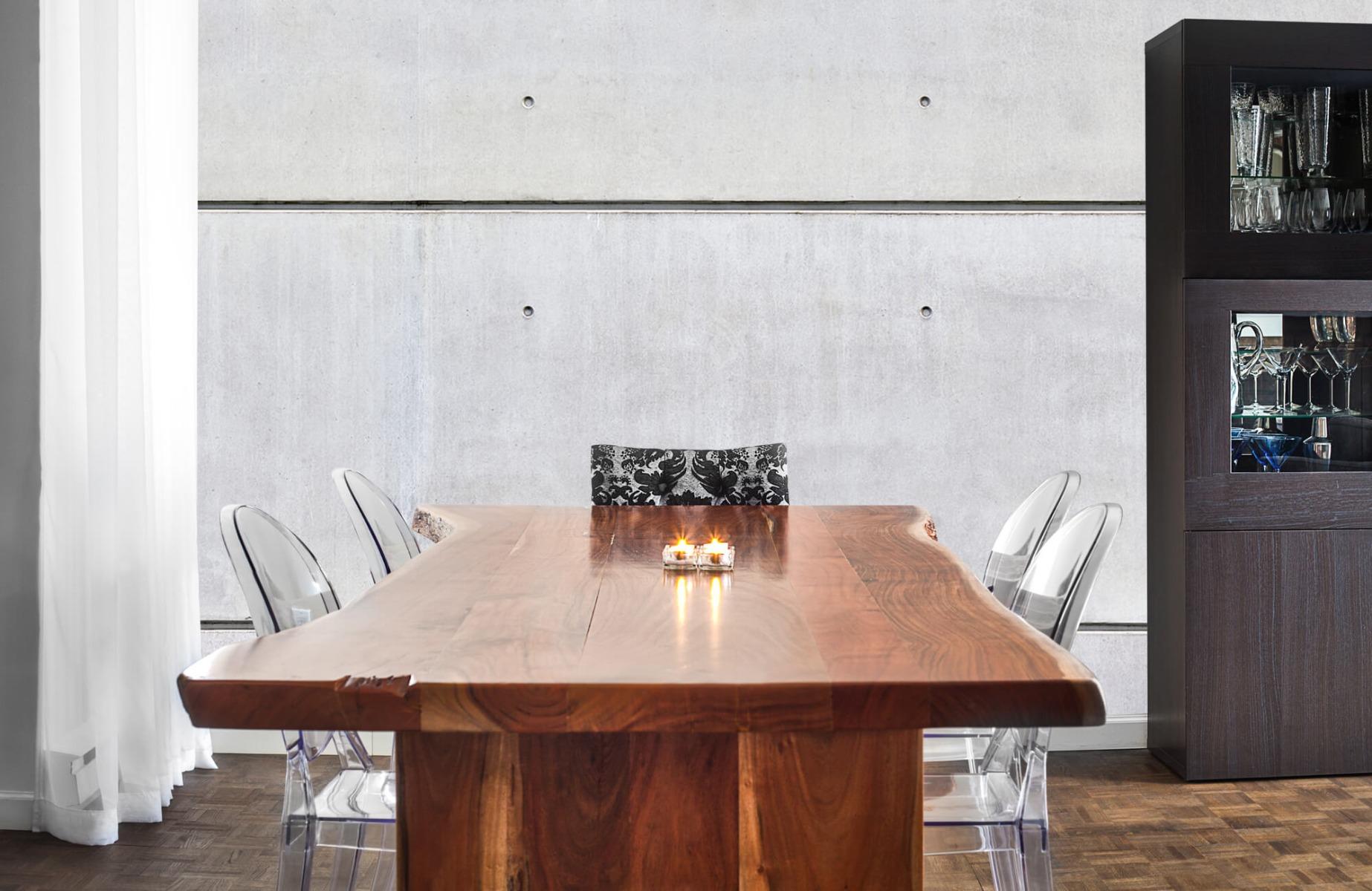Betonlook behang - Horizontaal beton - Wallexclusive - Vergaderruimte 3