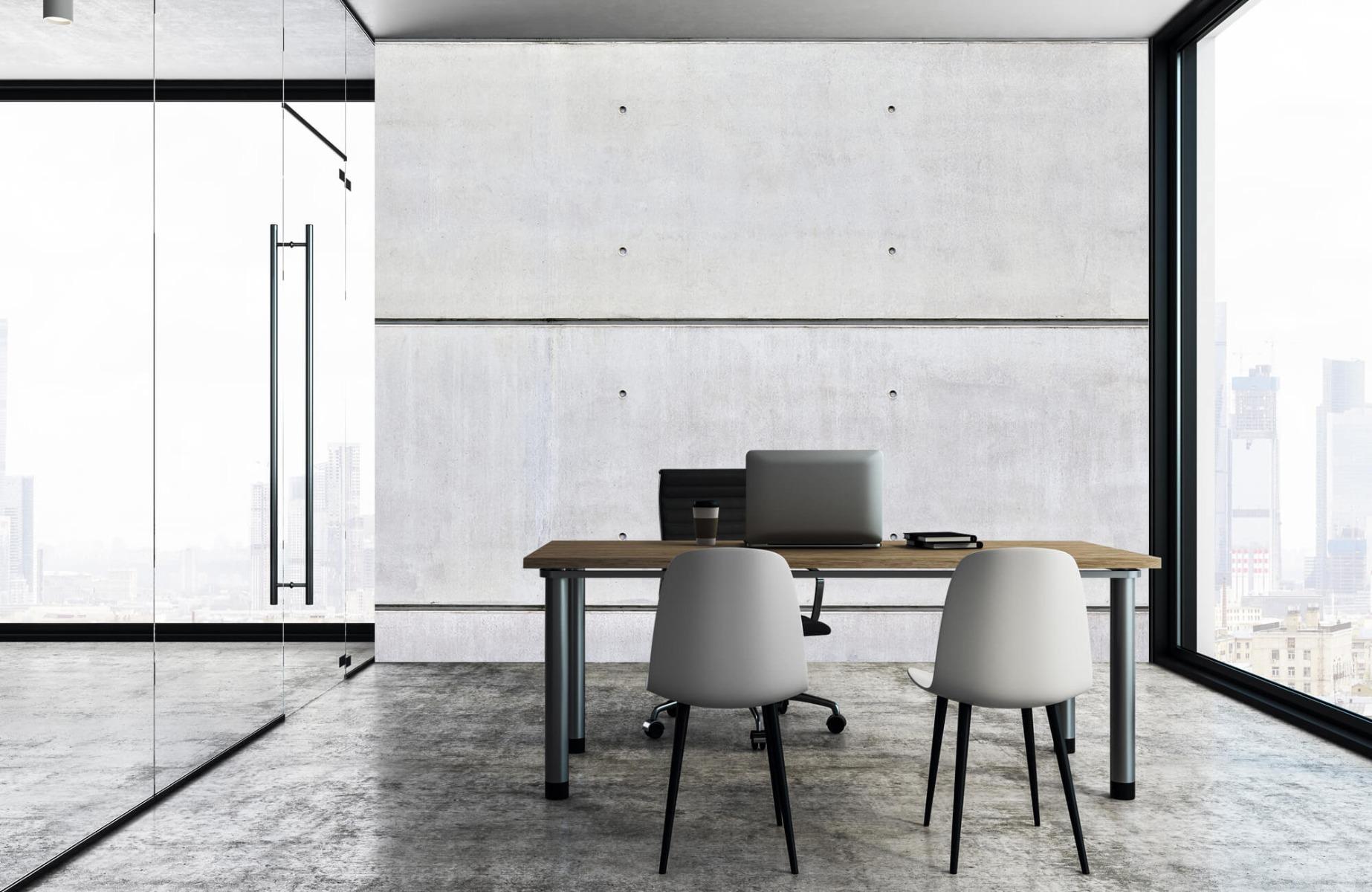 Betonlook behang - Horizontaal beton - Wallexclusive - Vergaderruimte 4