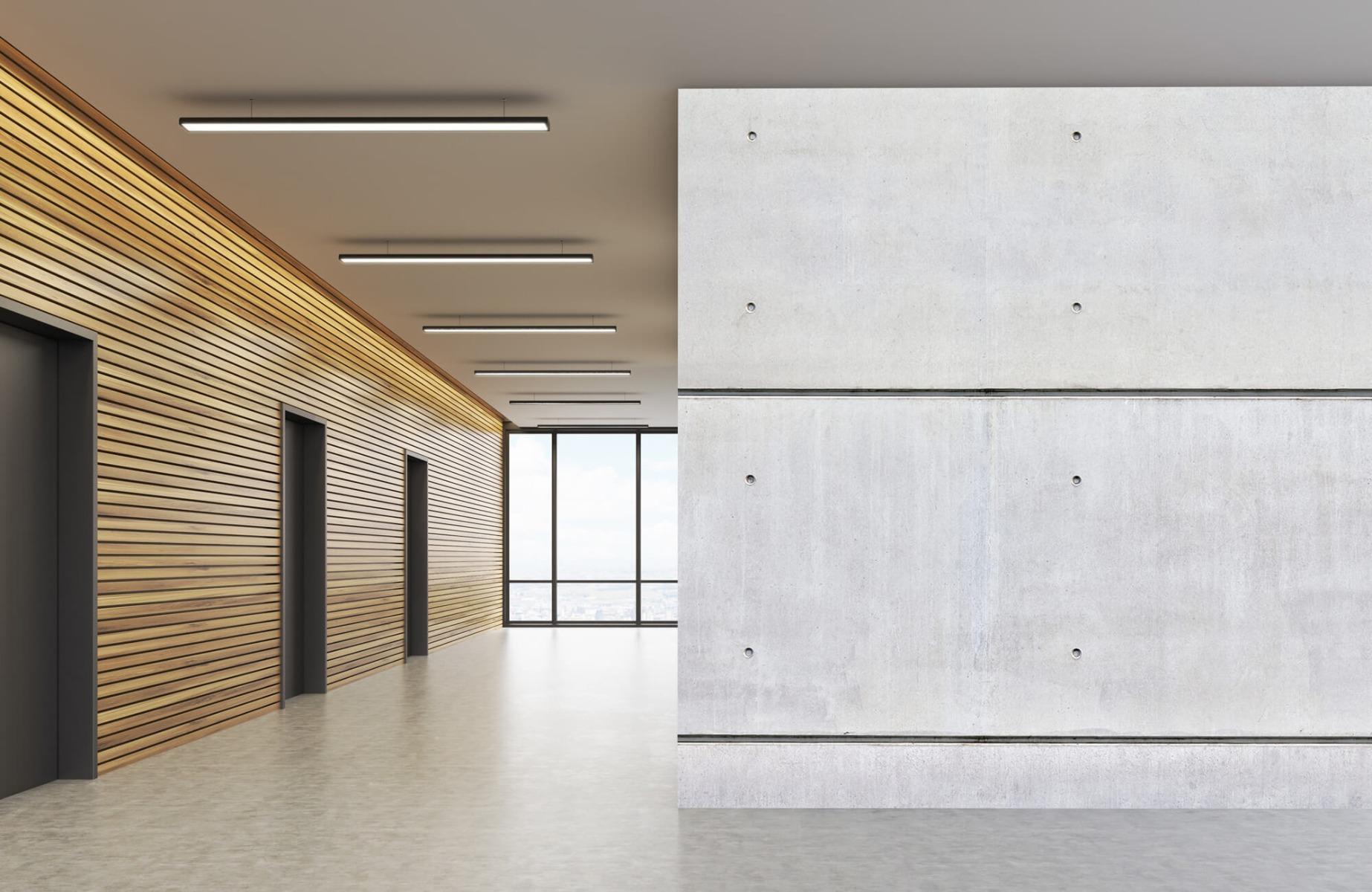 Betonlook behang - Horizontaal beton - Wallexclusive - Vergaderruimte 6