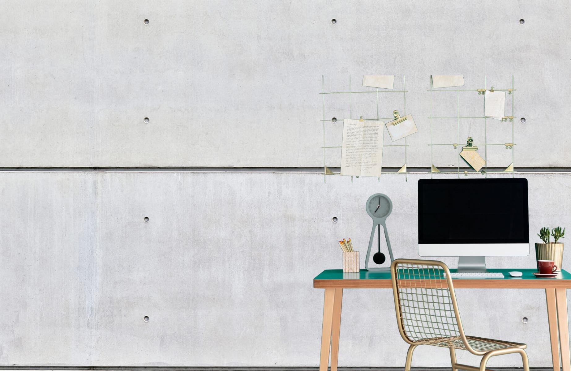 Betonlook behang - Horizontaal beton - Wallexclusive - Vergaderruimte 8