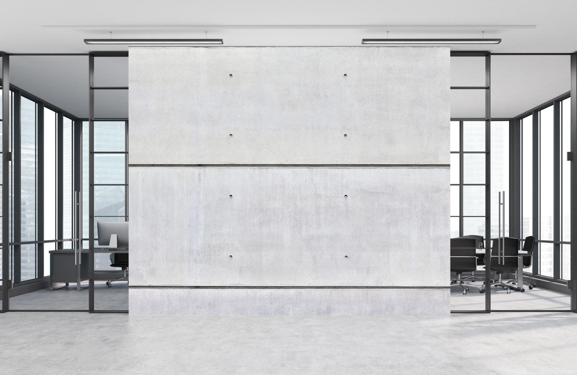 Betonlook behang - Horizontaal beton - Wallexclusive - Vergaderruimte 9