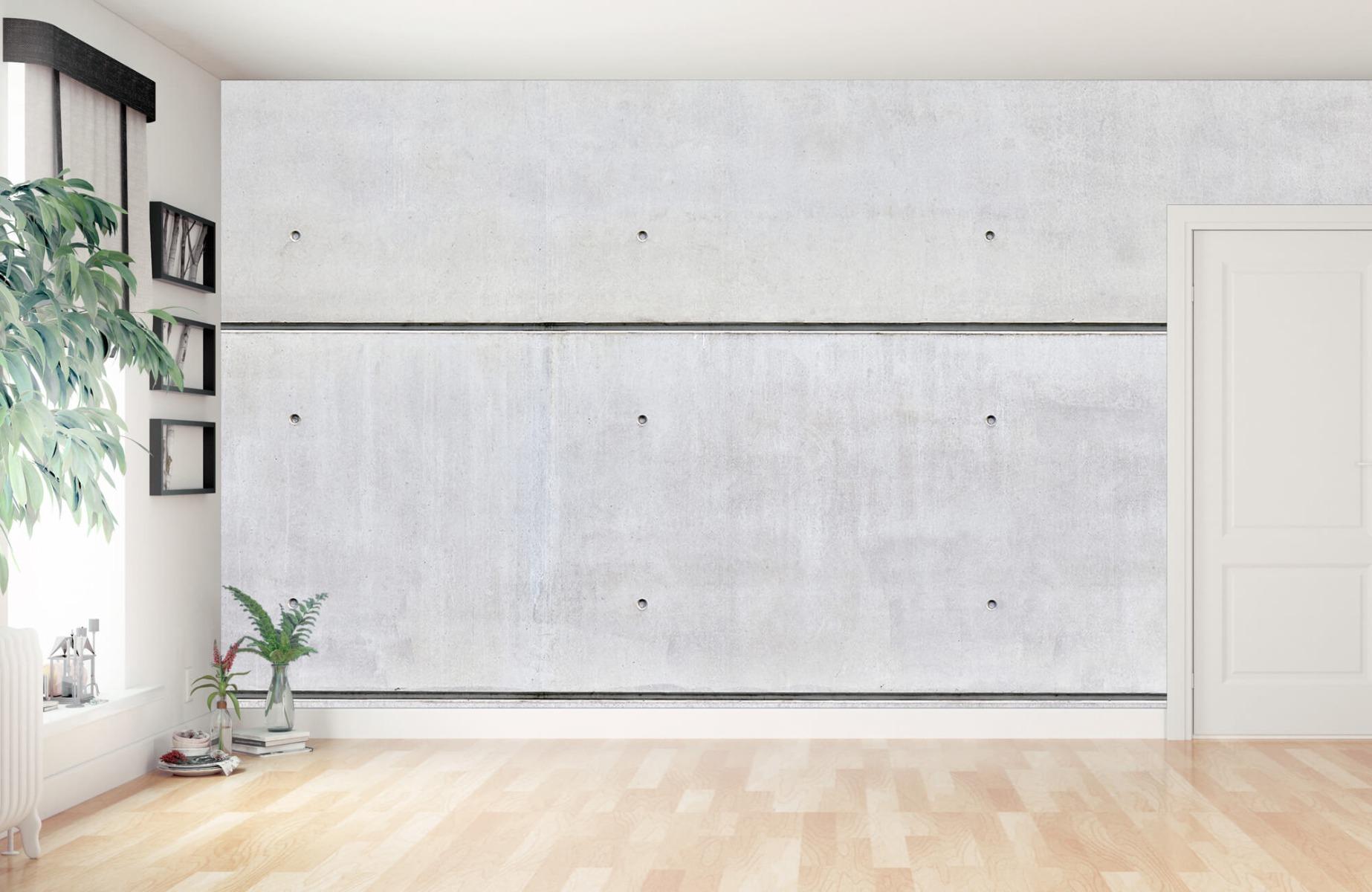 Betonlook behang - Horizontaal beton - Wallexclusive - Vergaderruimte 11