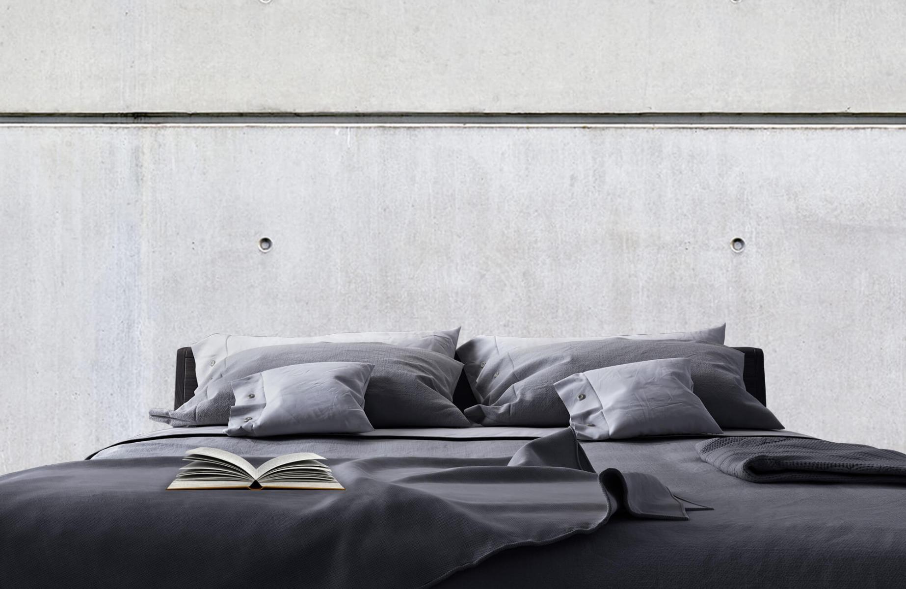 Betonlook behang - Horizontaal beton - Wallexclusive - Vergaderruimte 17