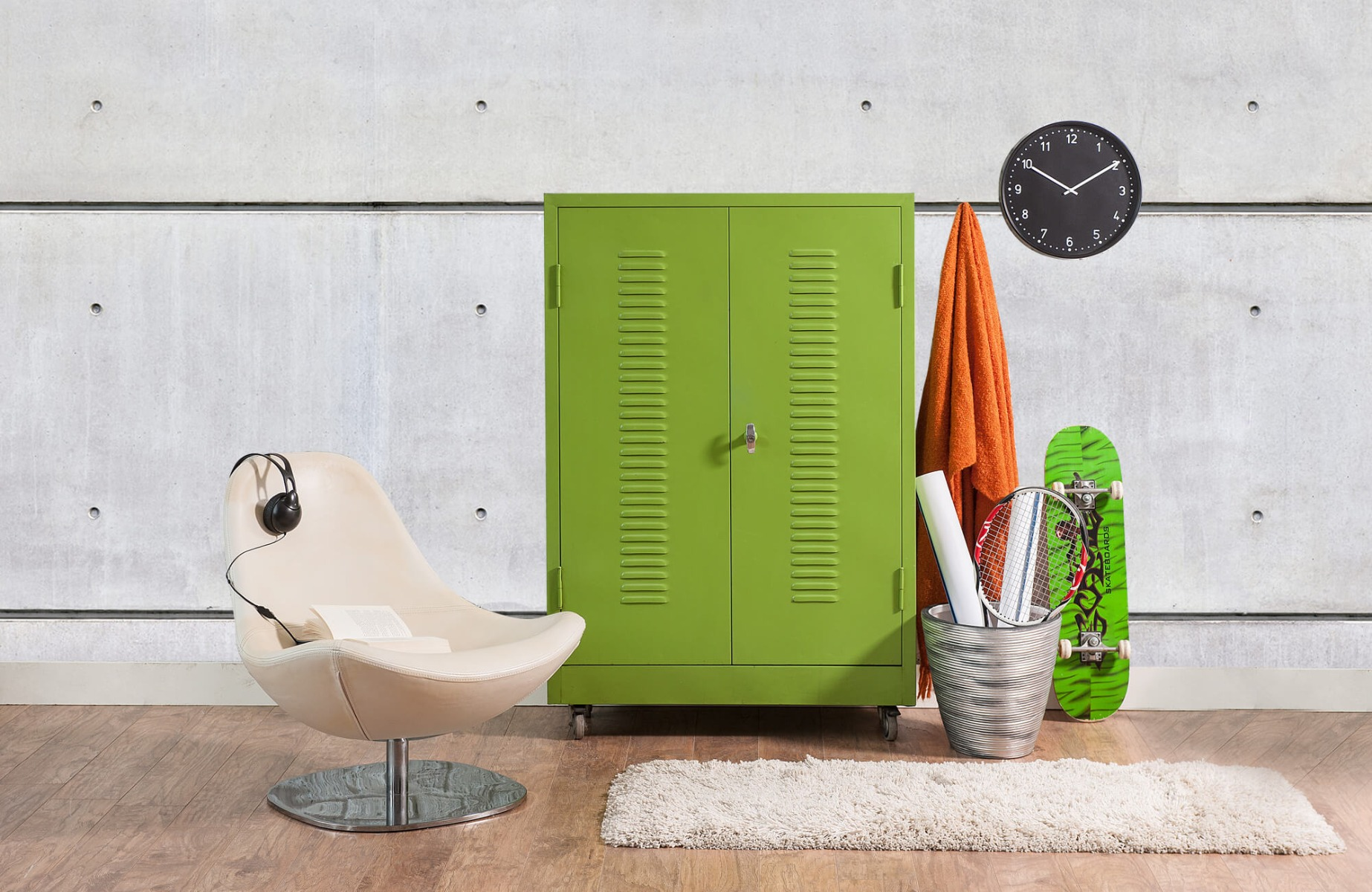 Betonlook behang - Horizontaal beton - Wallexclusive - Vergaderruimte 18