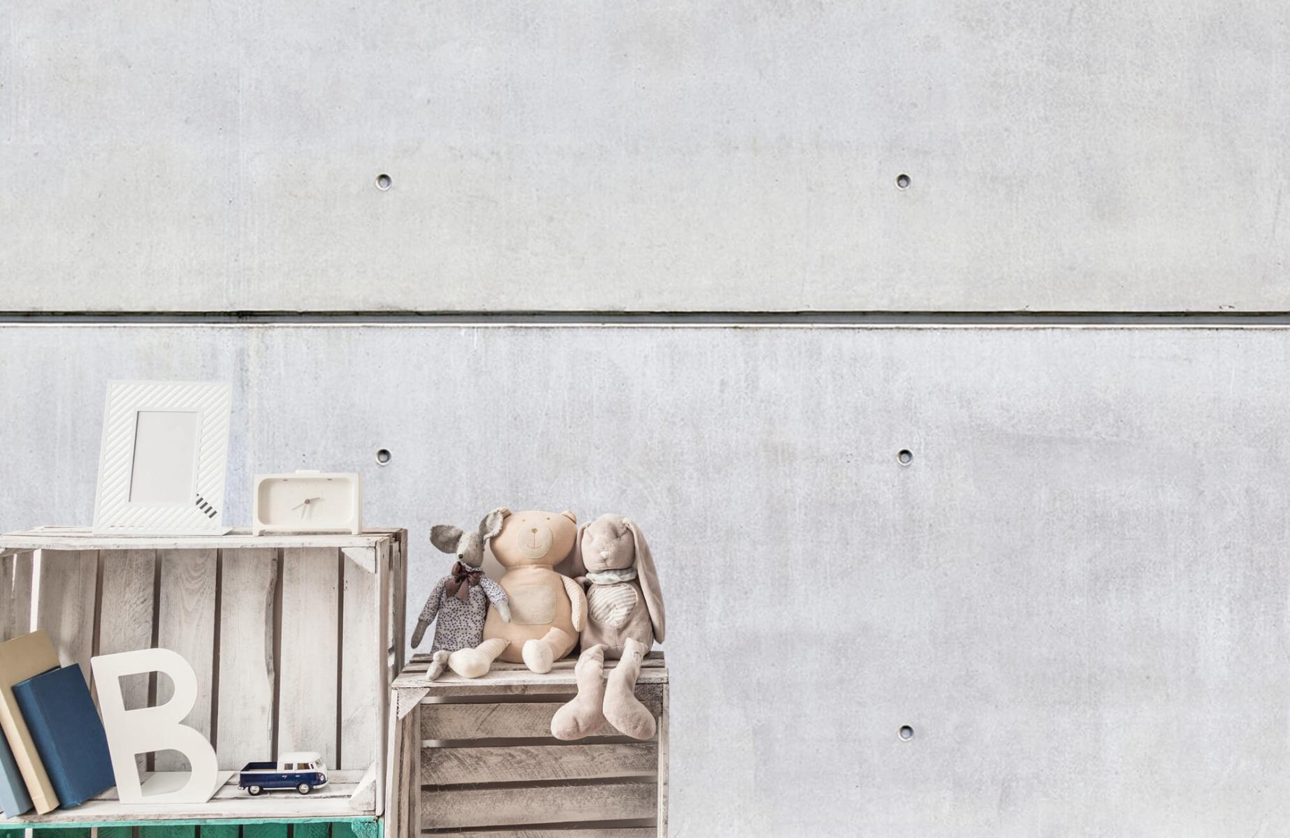 Betonlook behang - Horizontaal beton - Wallexclusive - Vergaderruimte 19