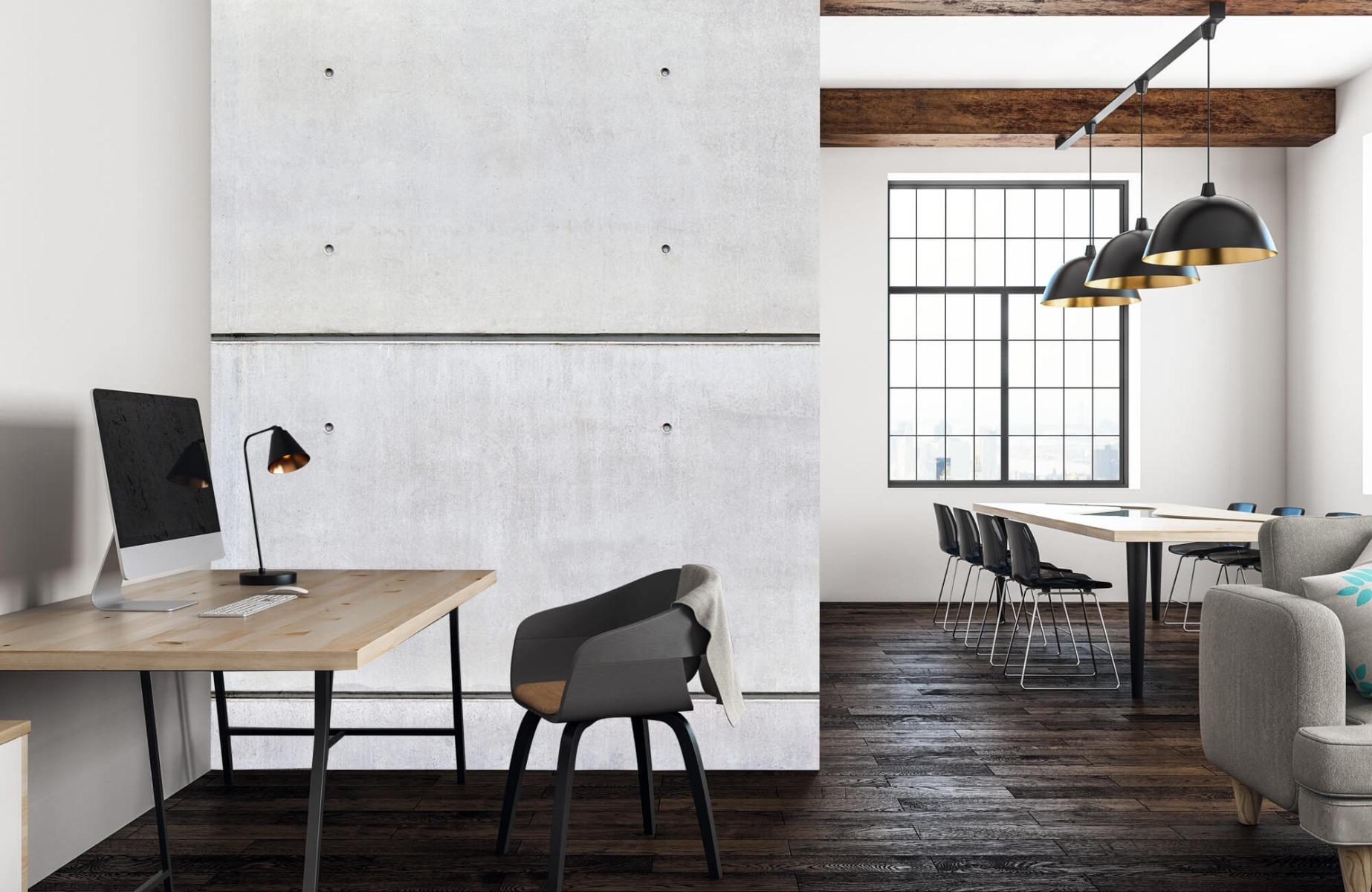 Betonlook behang - Horizontaal beton - Wallexclusive - Vergaderruimte 22