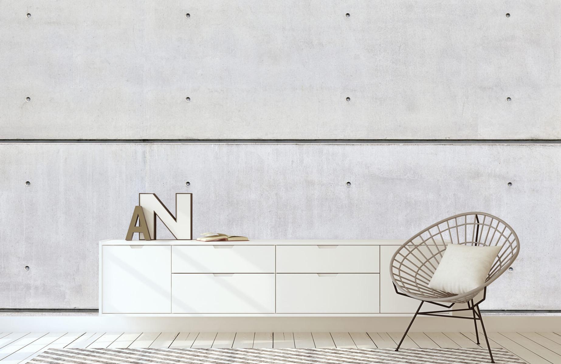 Betonlook behang - Horizontaal beton - Wallexclusive - Vergaderruimte 23