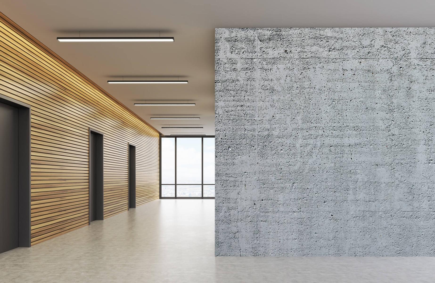 Betonlook behang - Beton - Wallexclusive - Kantoor 5