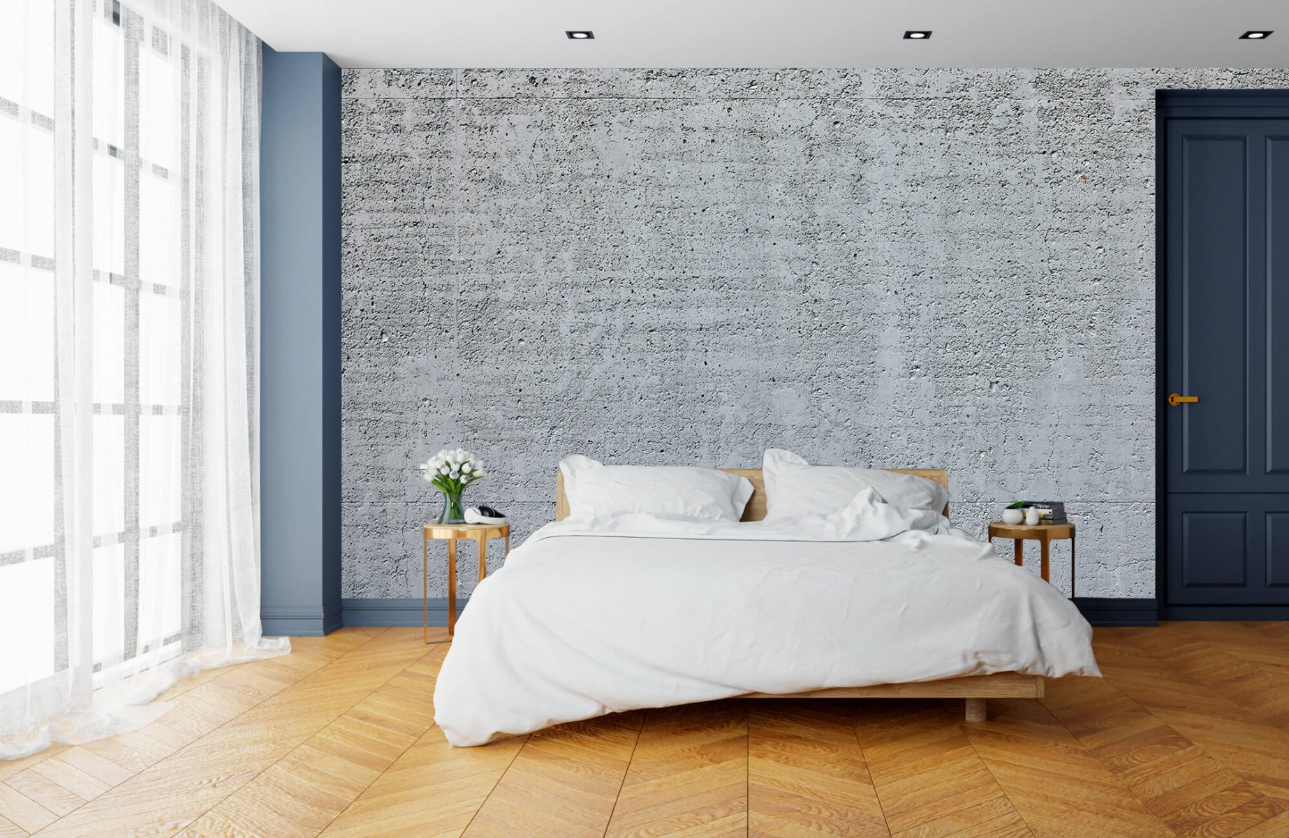 Betonlook behang - Beton - Wallexclusive - Kantoor 15