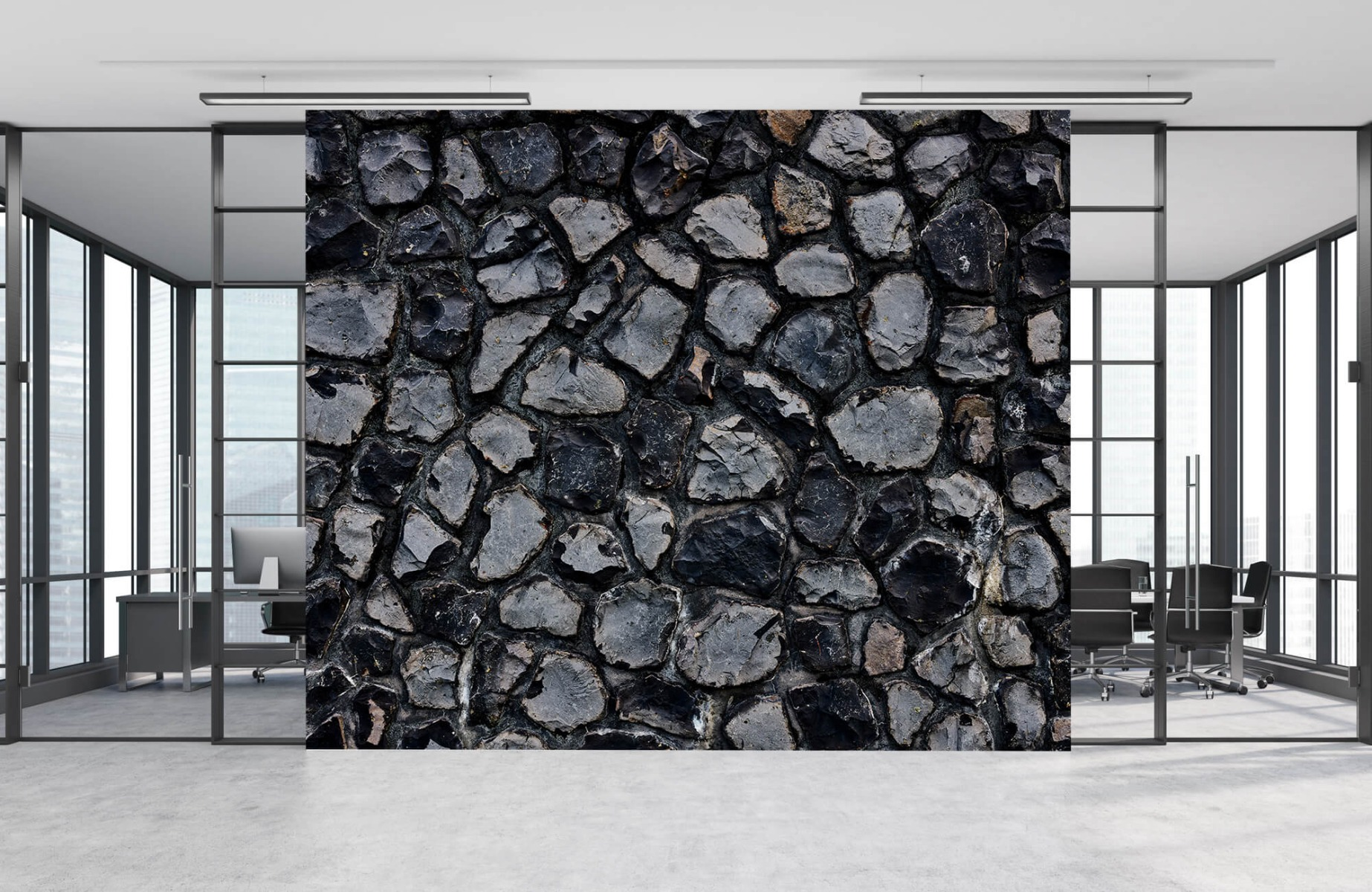 Steen behang - Donkere stenen - Wallexclusive - Gang 10