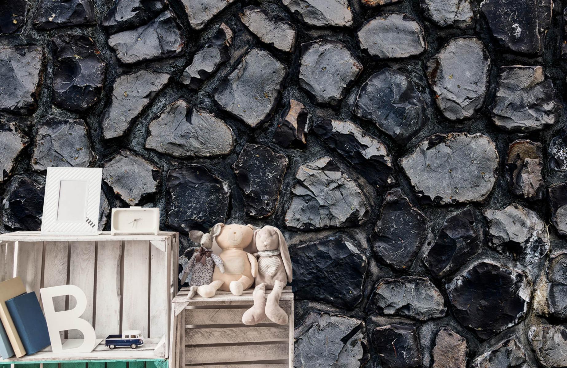 Steen behang - Donkere stenen - Wallexclusive - Gang 19