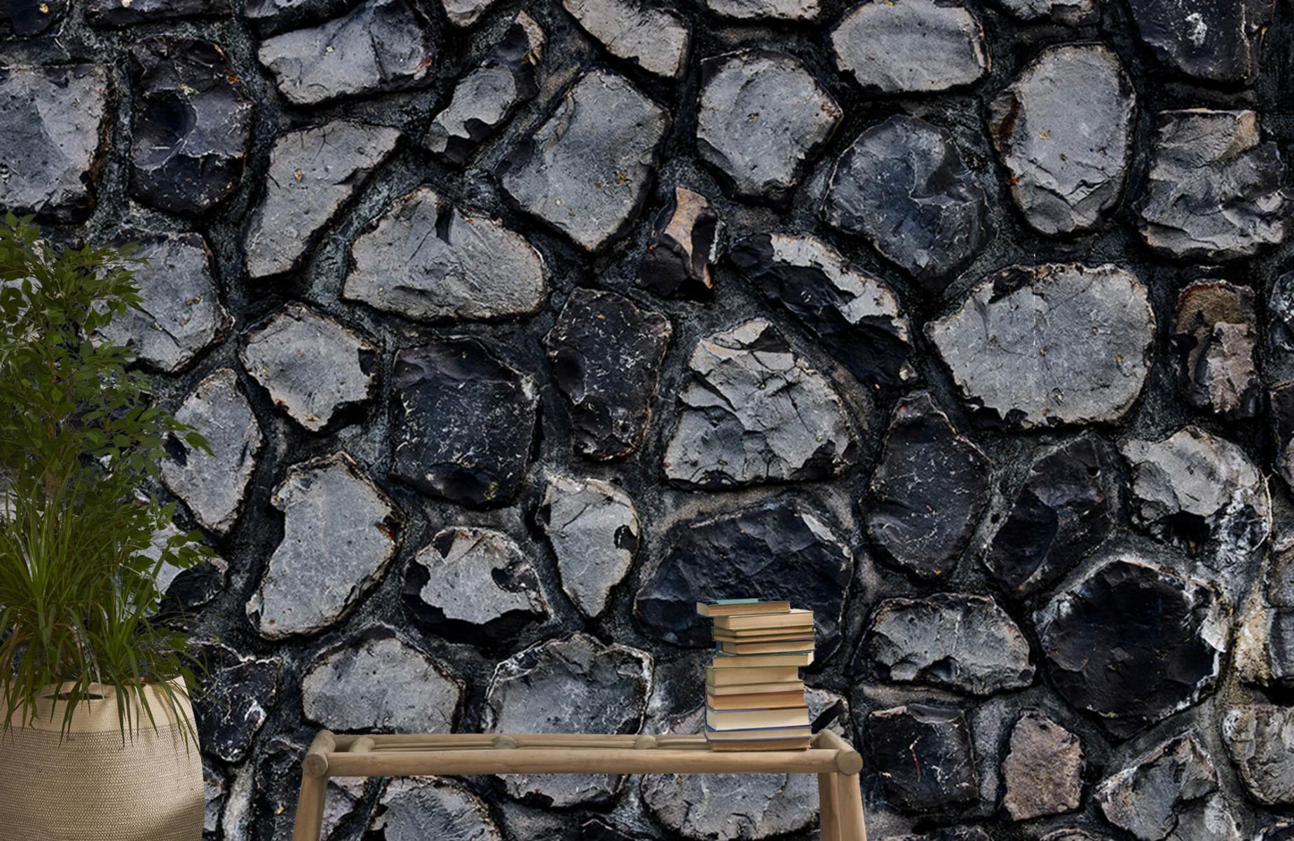 Steen behang - Donkere stenen - Wallexclusive - Gang 20