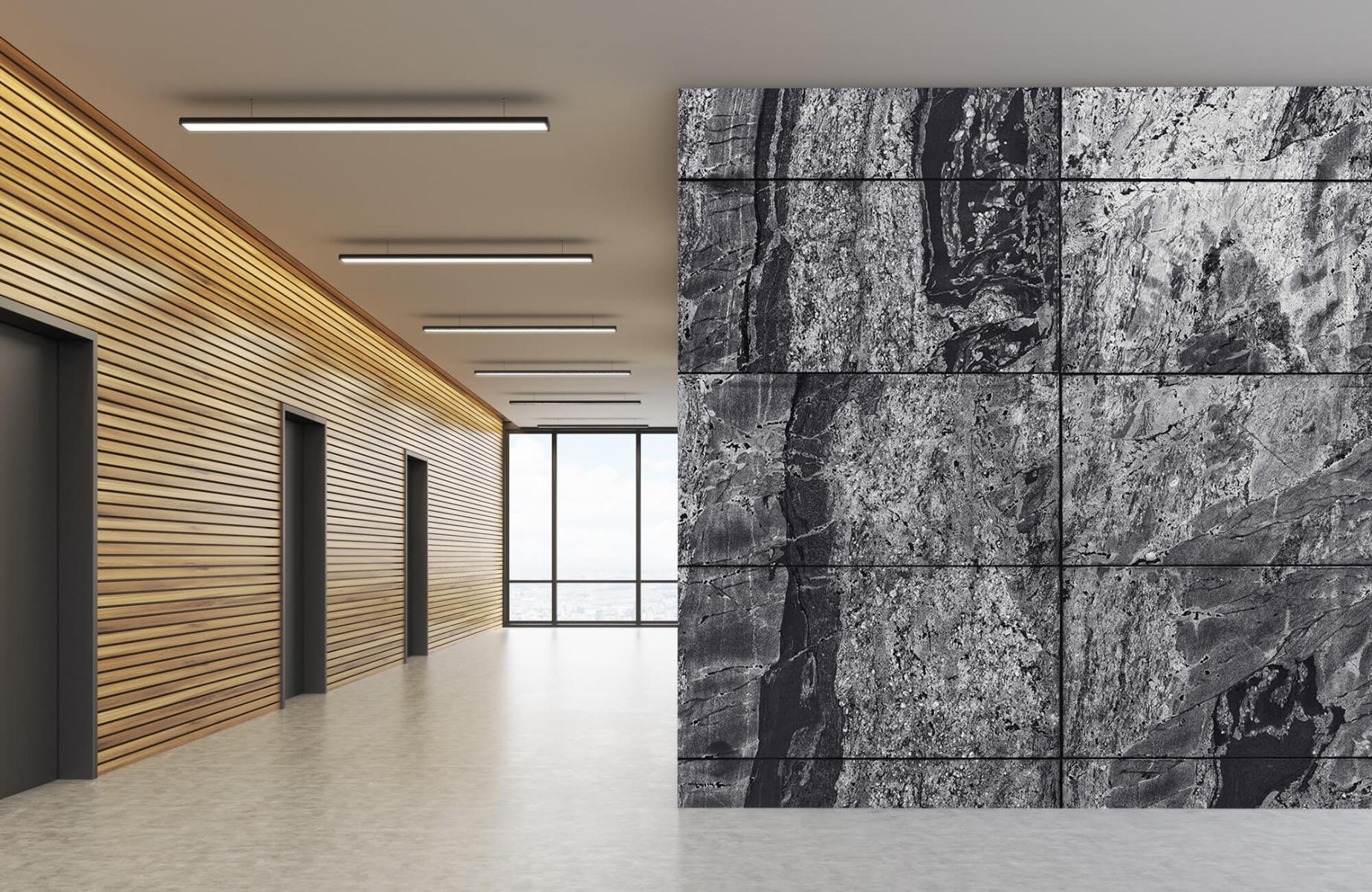 Steen behang - Marmer - Wallexclusive - Woonkamer 10