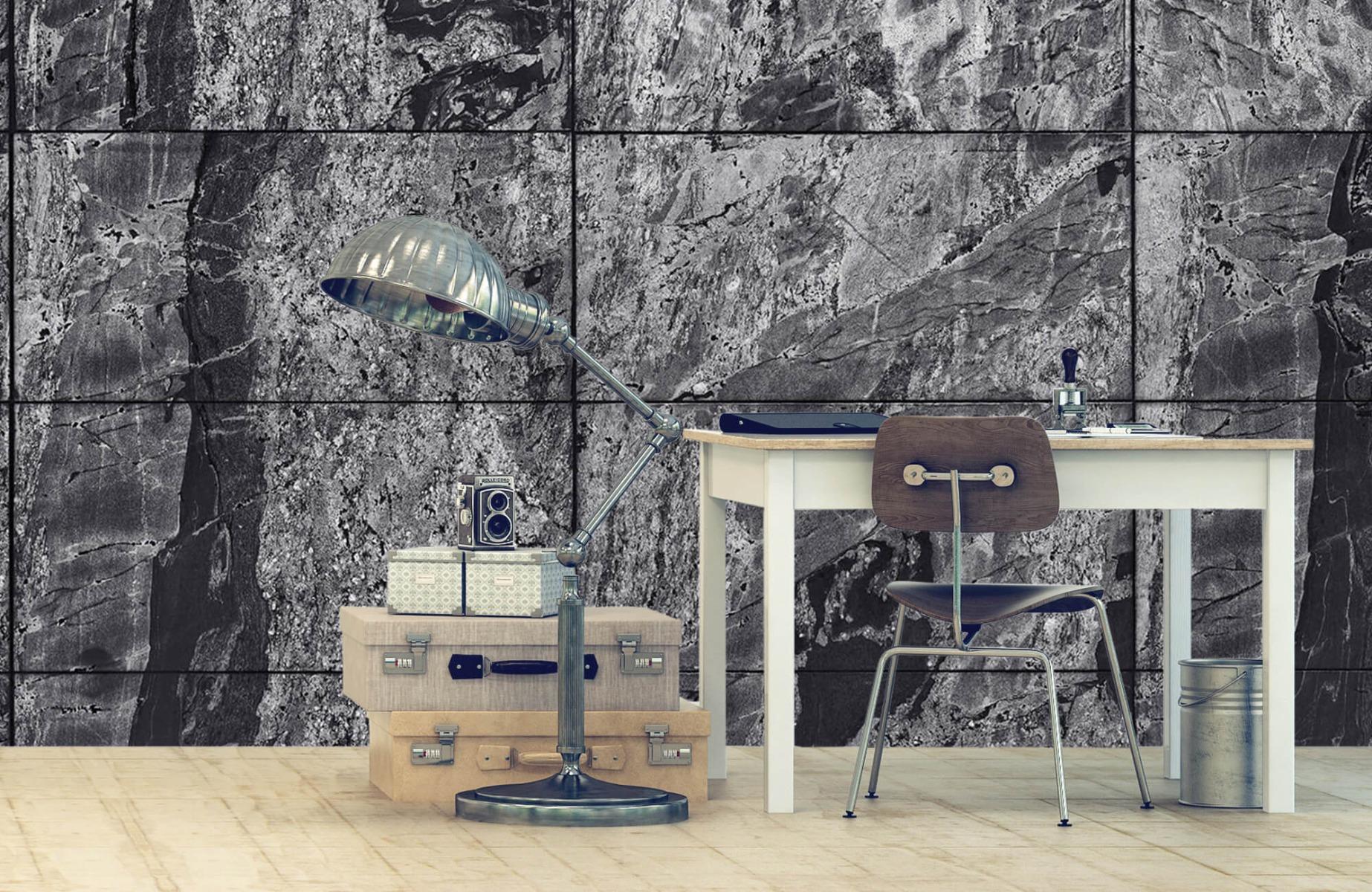 Steen behang - Marmer - Wallexclusive - Woonkamer 7