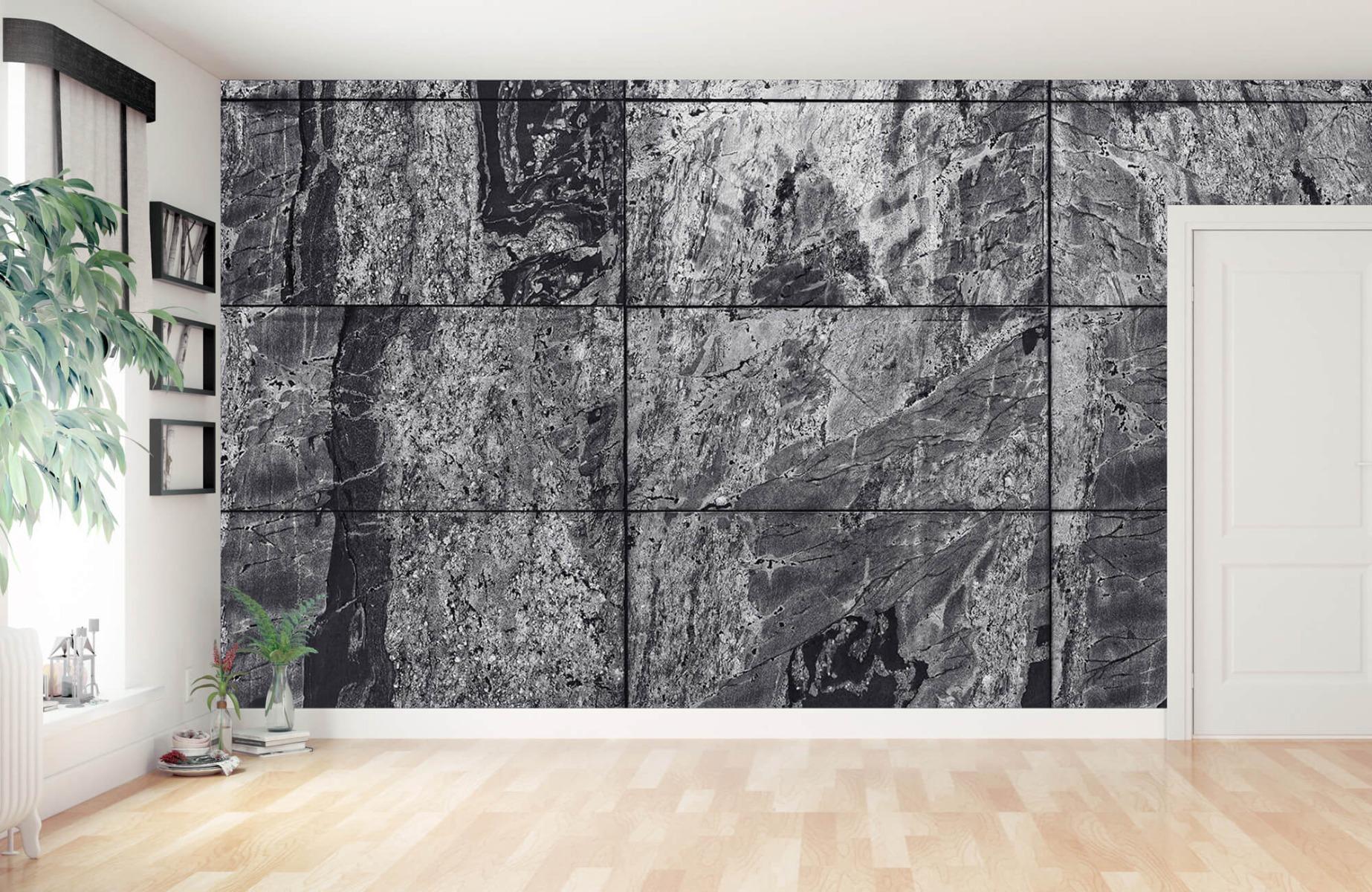 Steen behang - Marmer - Wallexclusive - Woonkamer 3