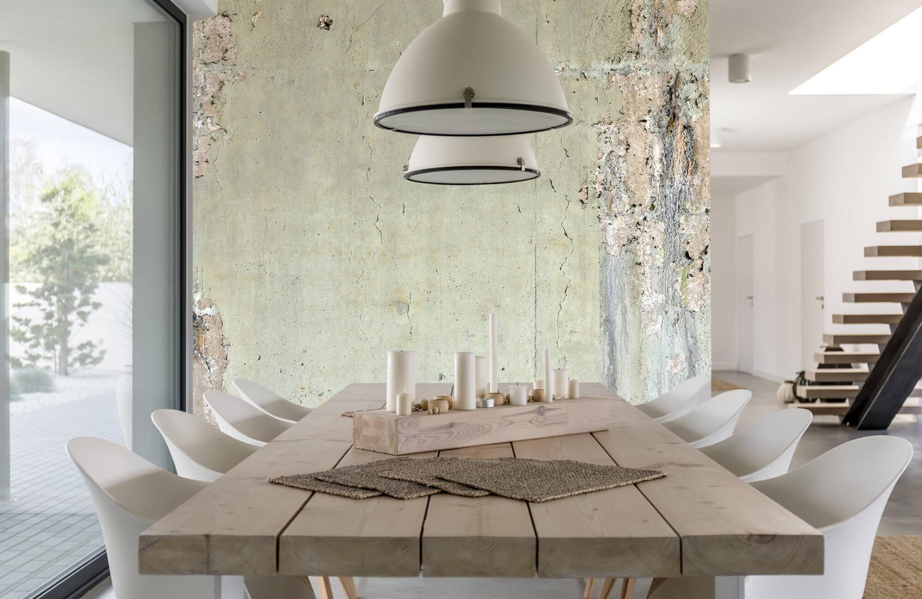 Betonlook behang - Oud beton - Wallexclusive - Tienerkamer 2