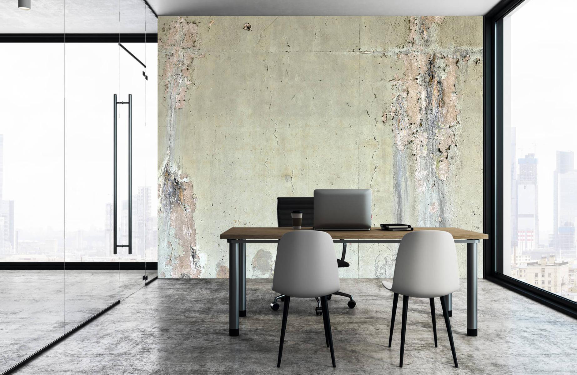 Betonlook behang - Oud beton - Wallexclusive - Tienerkamer 4