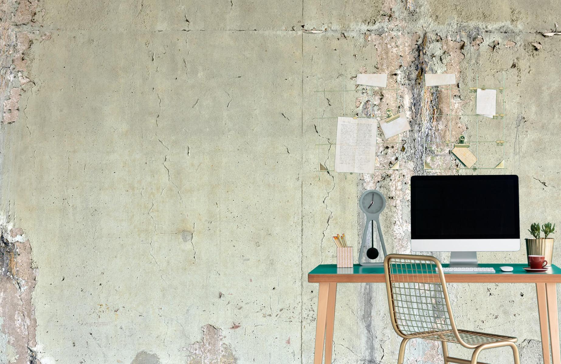 Betonlook behang - Oud beton - Wallexclusive - Tienerkamer 8