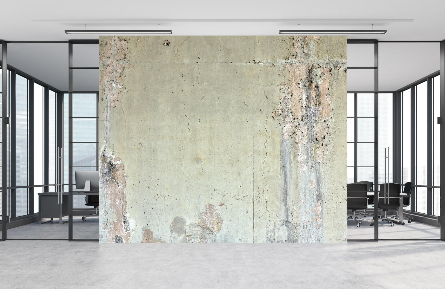 Betonlook behang - Oud beton - Wallexclusive - Tienerkamer 9