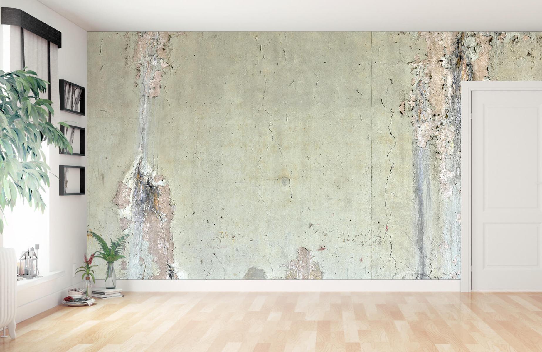 Betonlook behang - Oud beton - Wallexclusive - Tienerkamer 12