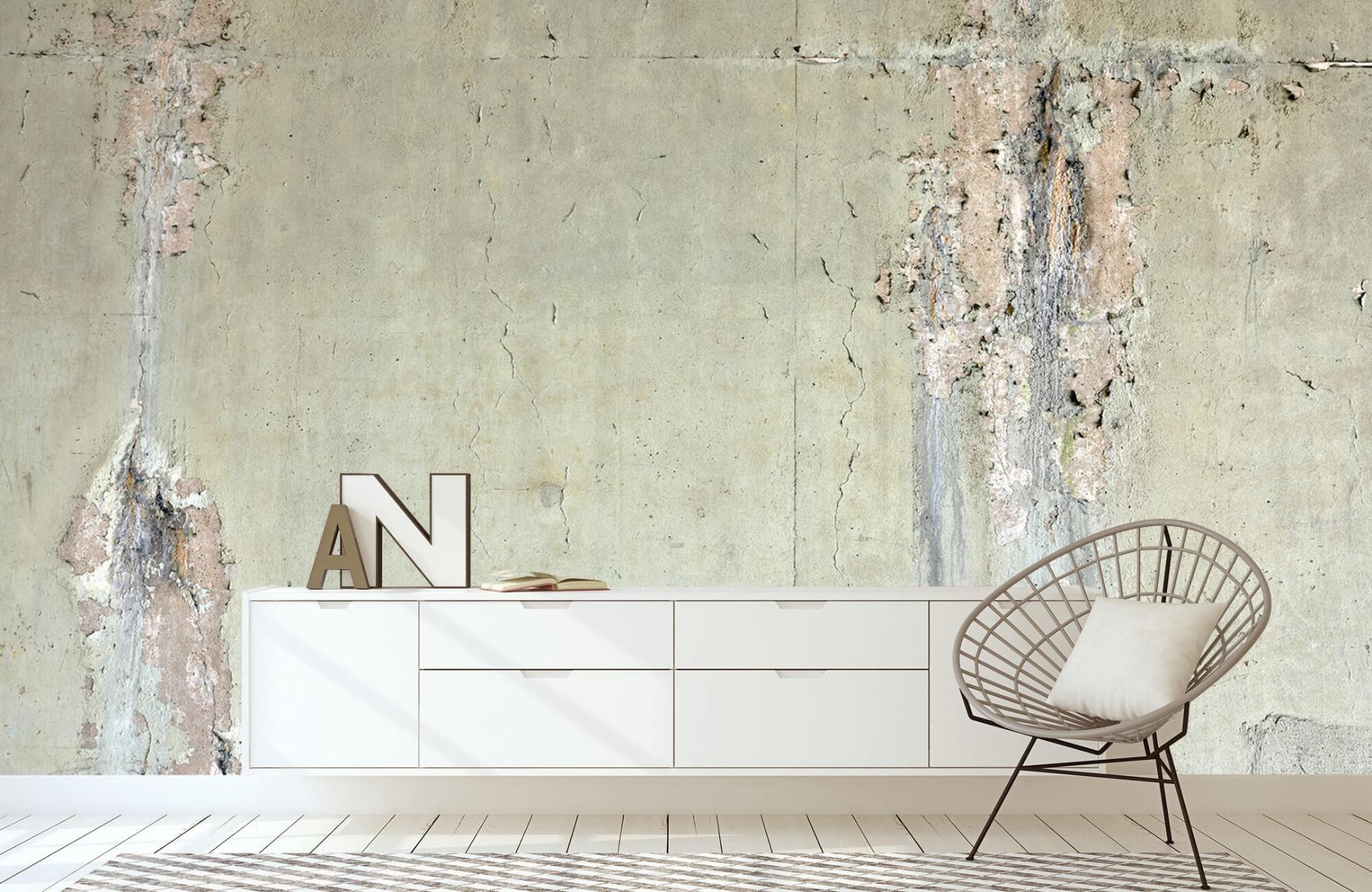 Betonlook behang - Oud beton - Wallexclusive - Tienerkamer 23