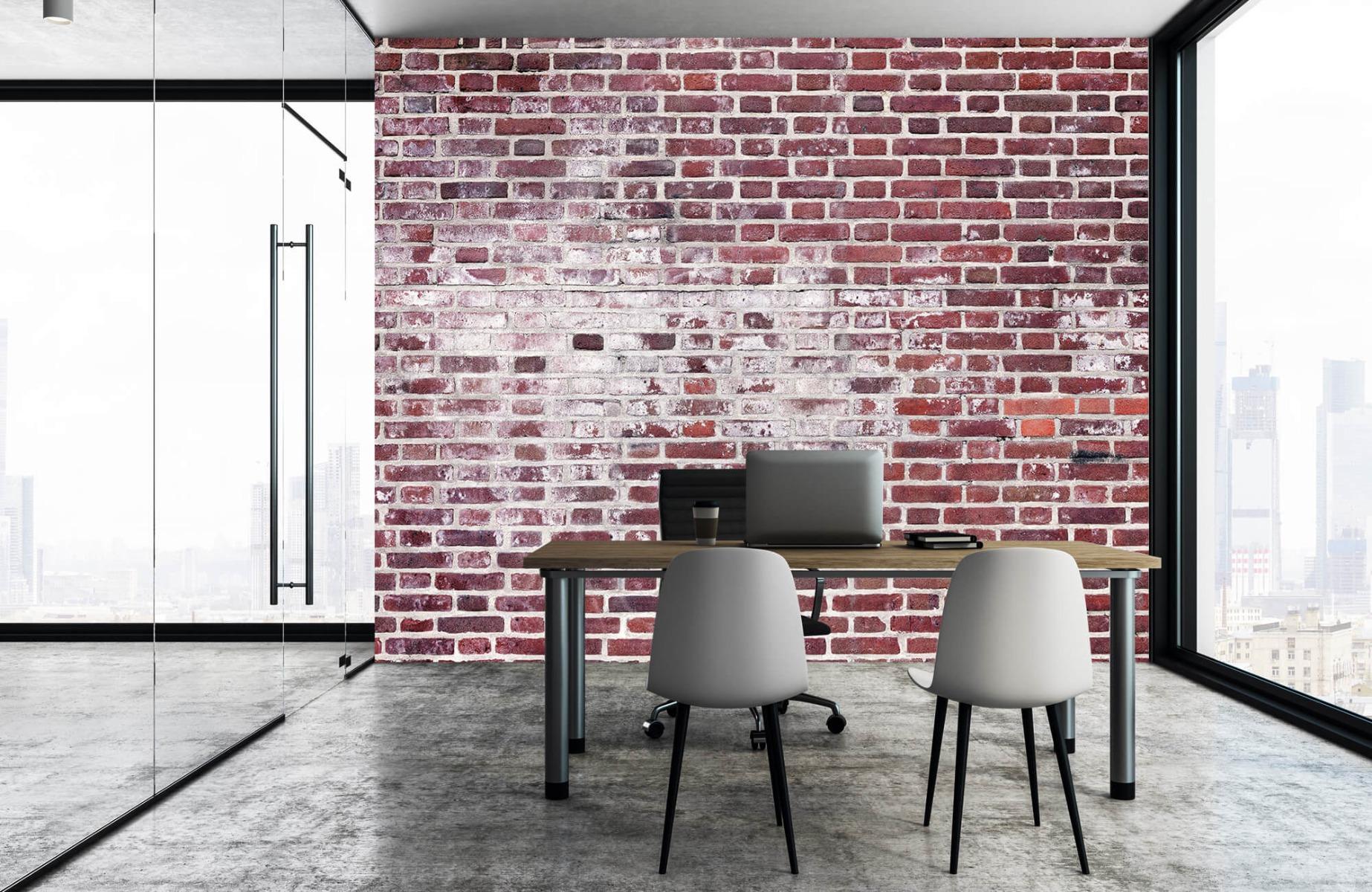 Steen behang - Bakstenen met cement - Wallexclusive - Woonkamer 3
