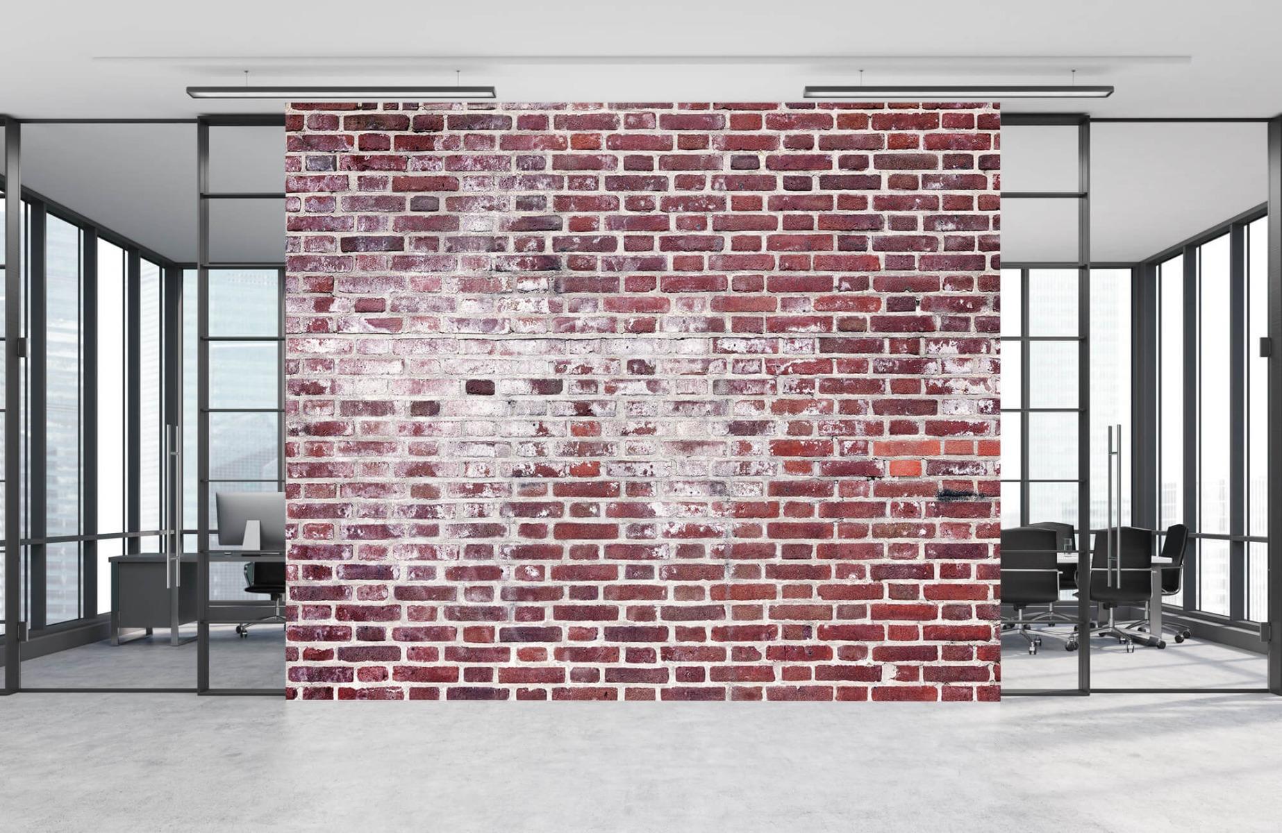 Steen behang - Bakstenen met cement - Wallexclusive - Woonkamer 8
