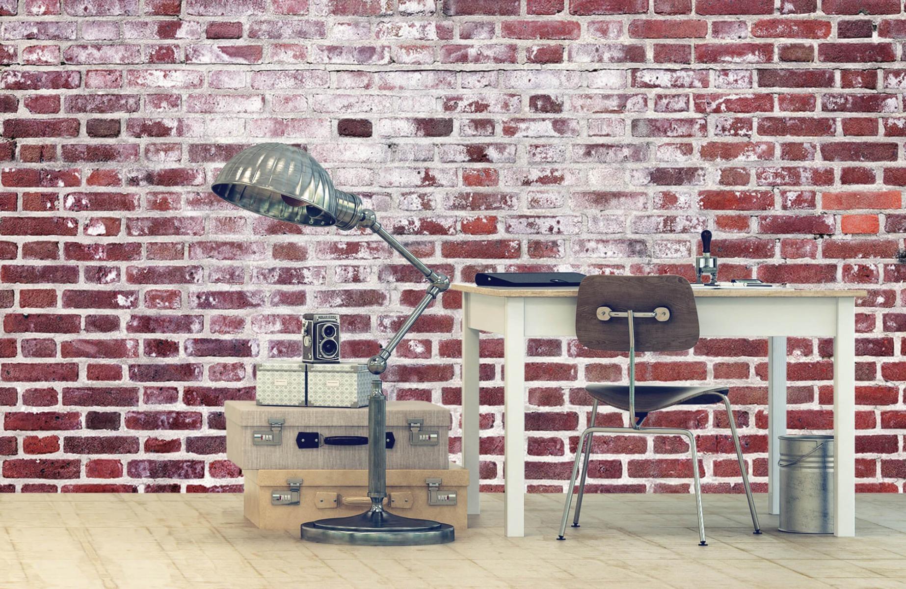 Steen behang - Bakstenen met cement - Wallexclusive - Woonkamer 9