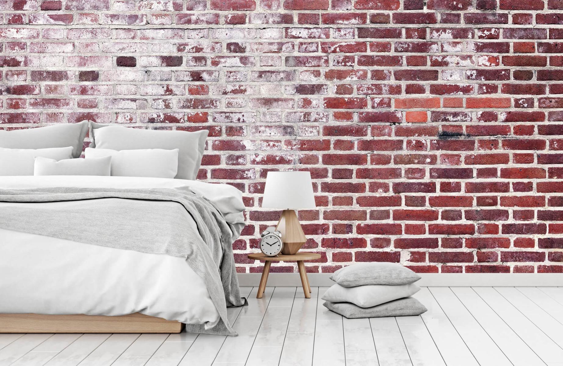 Steen behang - Bakstenen met cement - Wallexclusive - Woonkamer 14