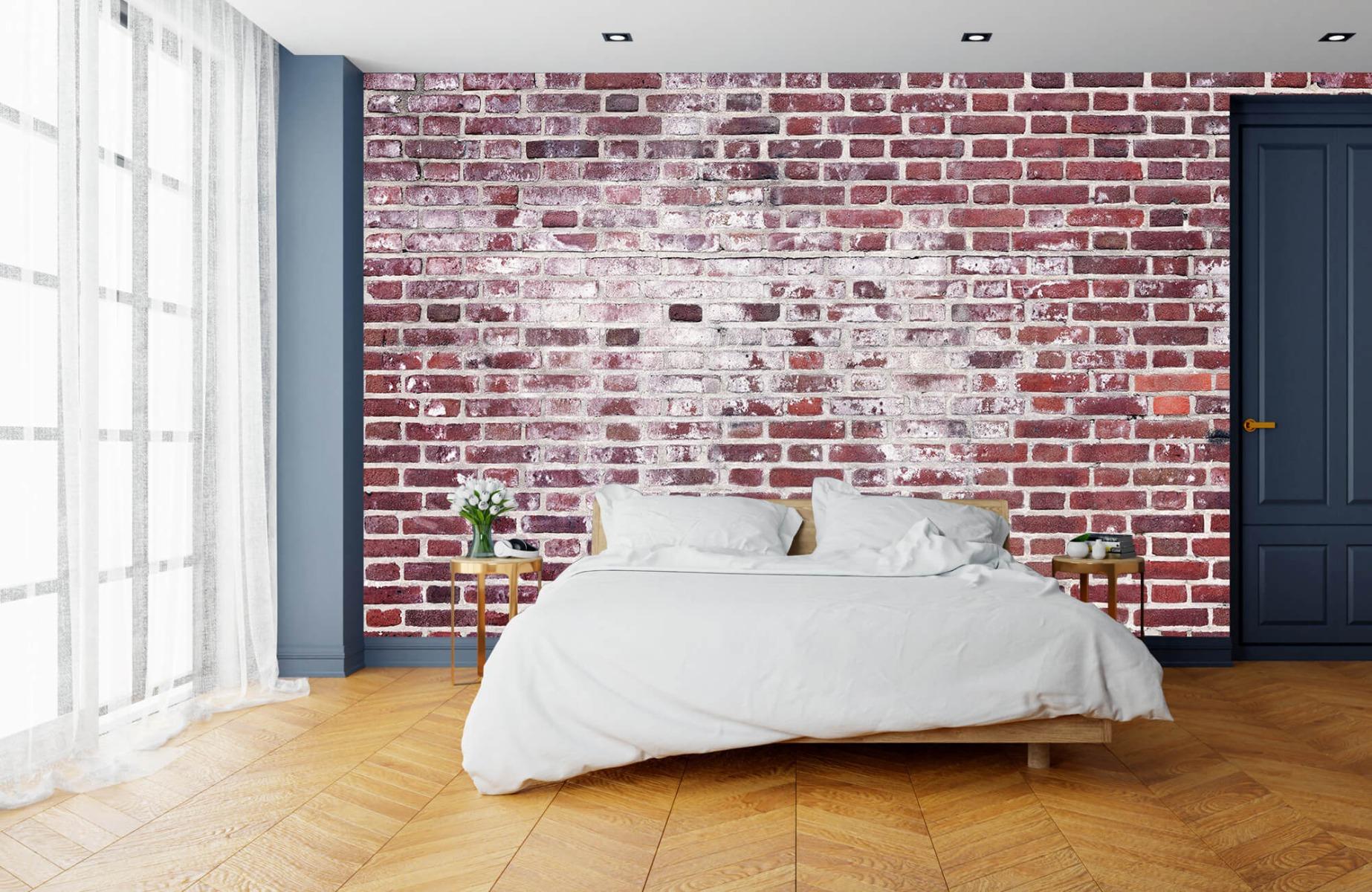 Steen behang - Bakstenen met cement - Wallexclusive - Woonkamer 15
