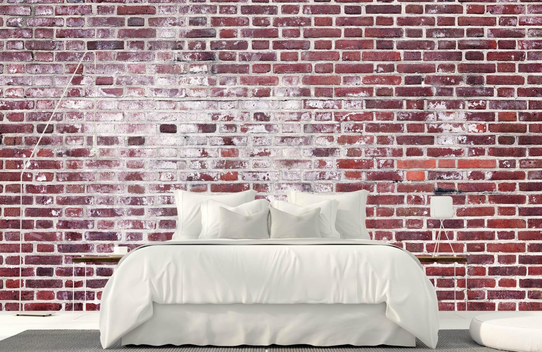 Steen behang - Bakstenen met cement - Wallexclusive - Woonkamer 16