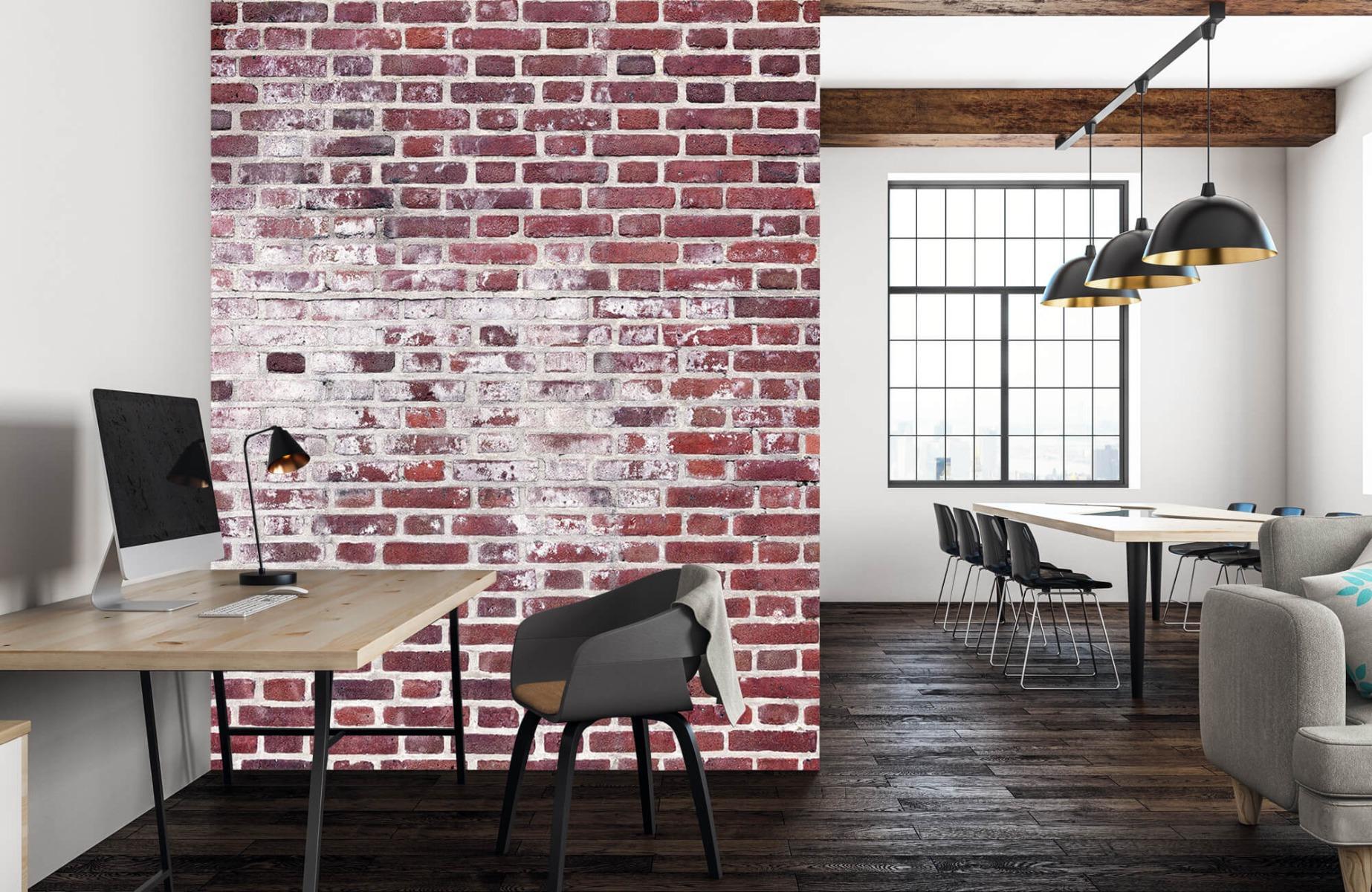 Steen behang - Bakstenen met cement - Wallexclusive - Woonkamer 22