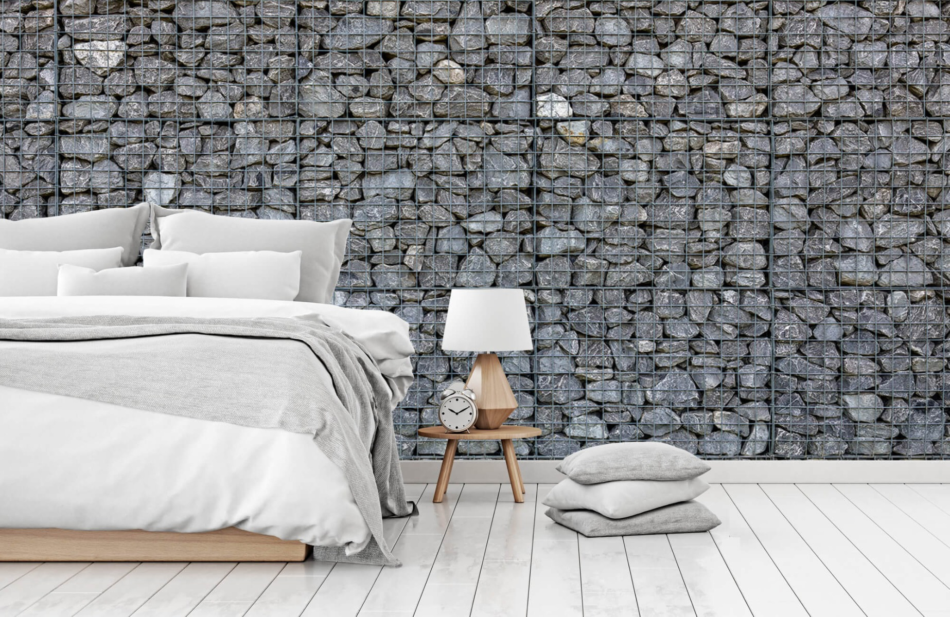 Steen behang - Steenkorf - Wallexclusive - Slaapkamer 14