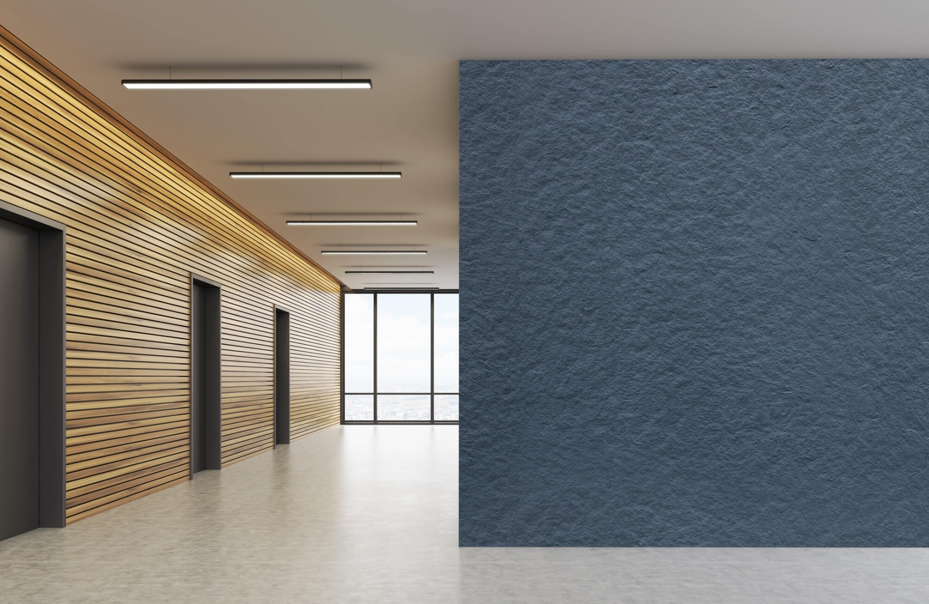 Betonlook behang - Grove structuur - Wallexclusive - Slaapkamer 6