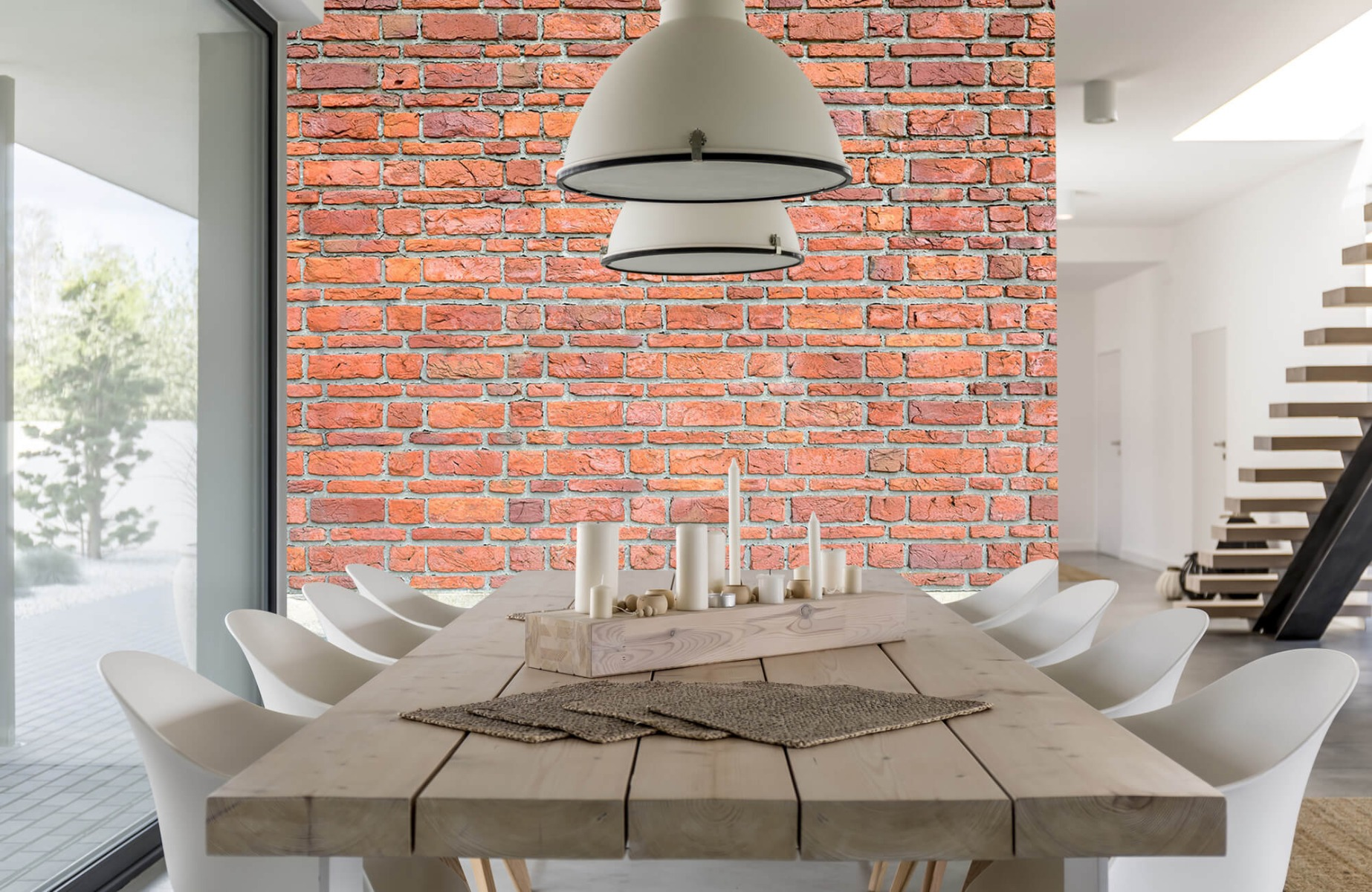 Steen behang - Bakstenen met oud beton - Wallexclusive - Slaapkamer 5