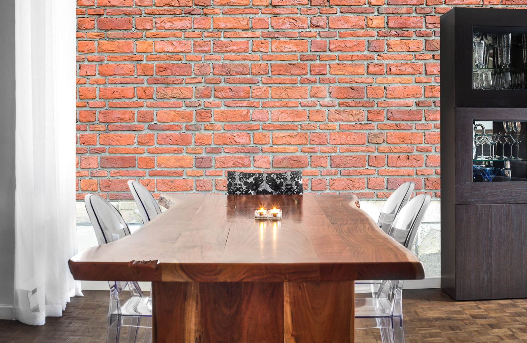 Steen behang - Bakstenen met oud beton - Wallexclusive - Slaapkamer 6