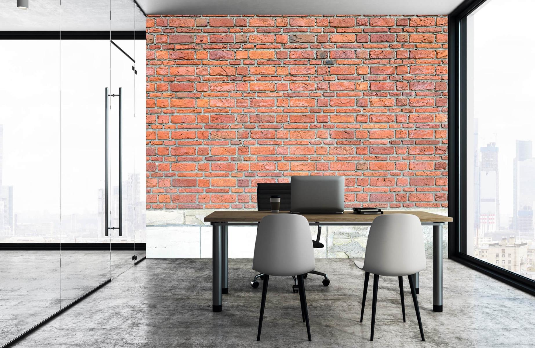 Steen behang - Bakstenen met oud beton - Wallexclusive - Slaapkamer 7