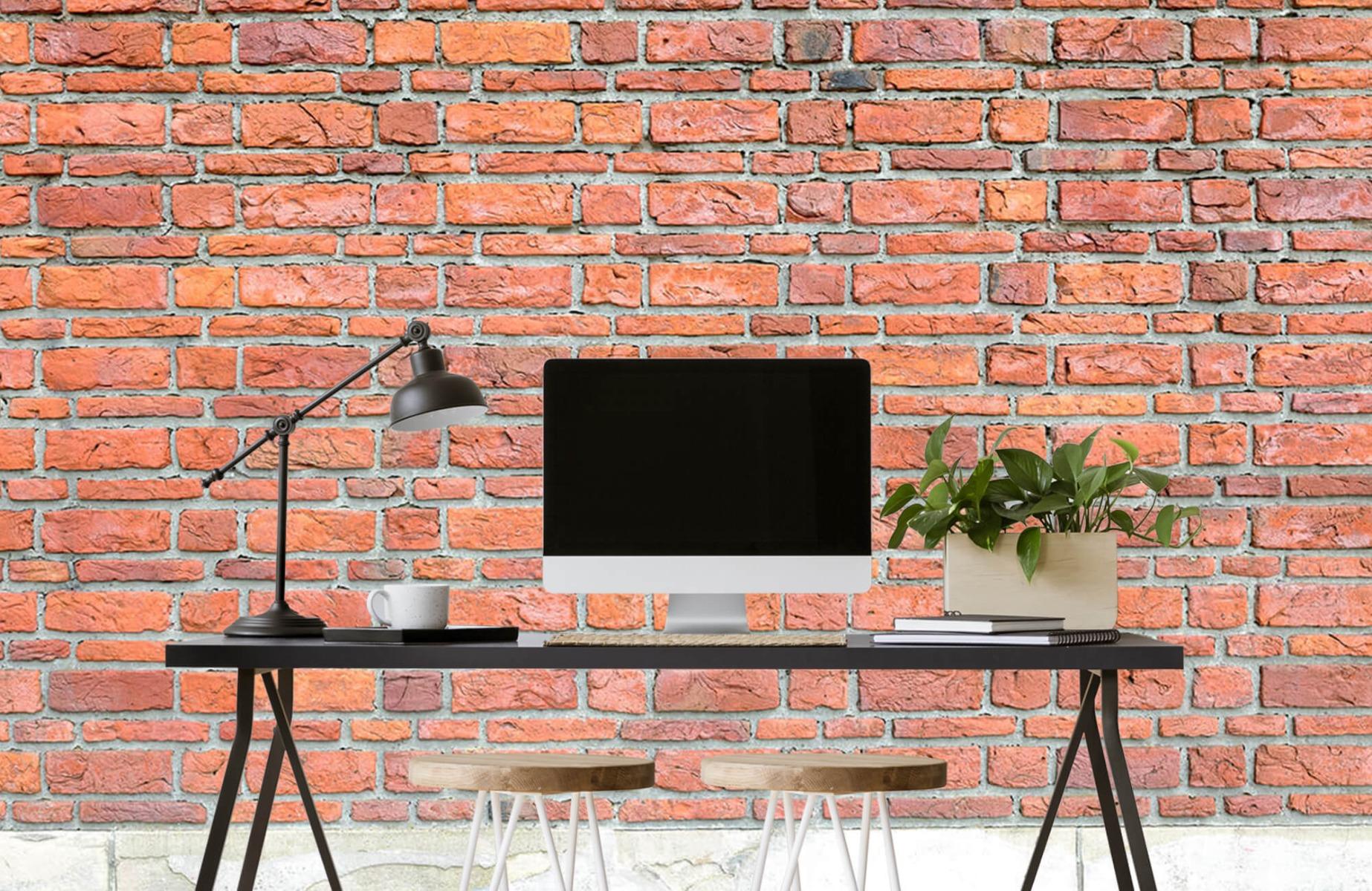 Steen behang - Bakstenen met oud beton - Wallexclusive - Slaapkamer 10