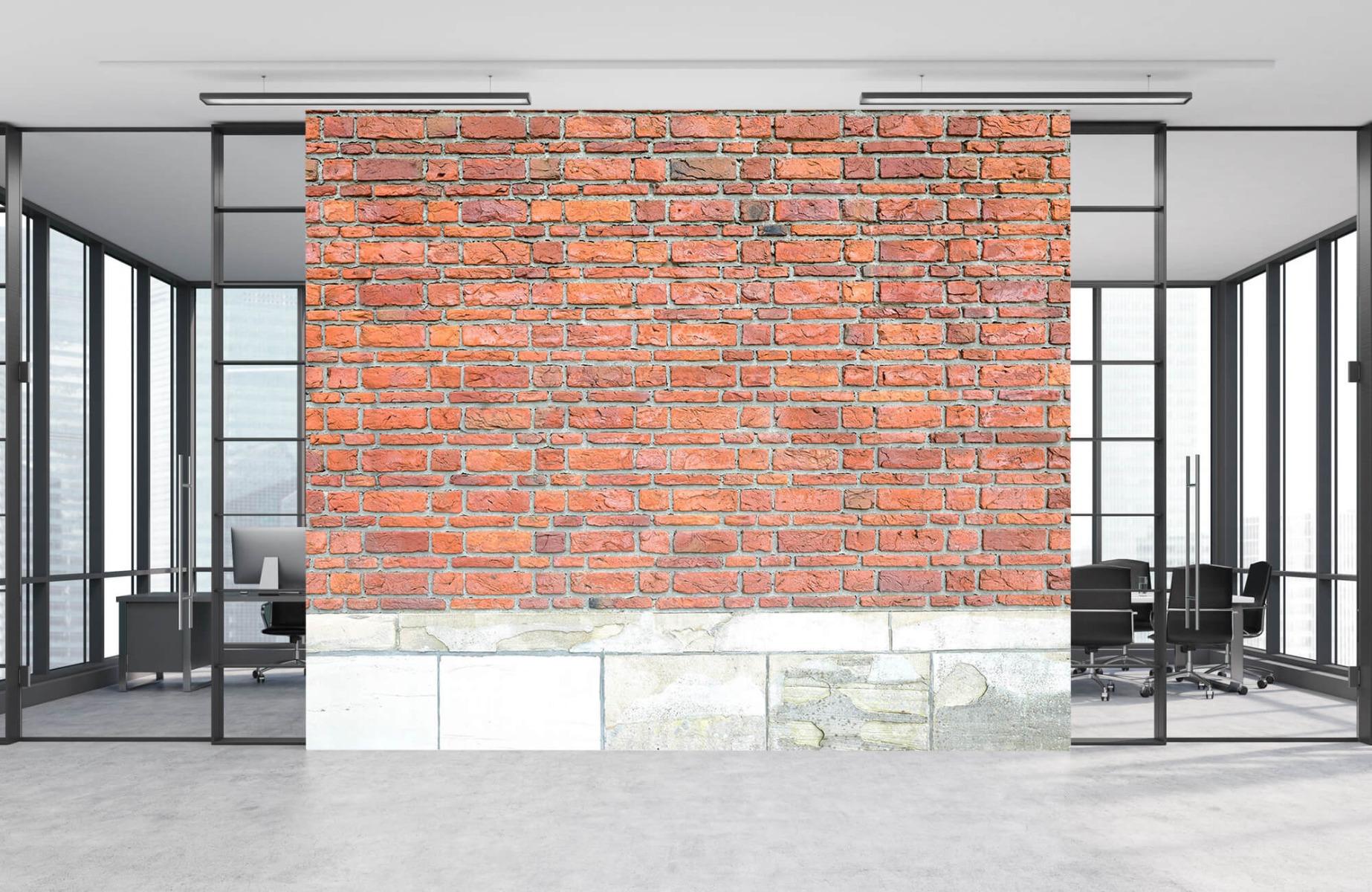 Steen behang - Bakstenen met oud beton - Wallexclusive - Slaapkamer 4