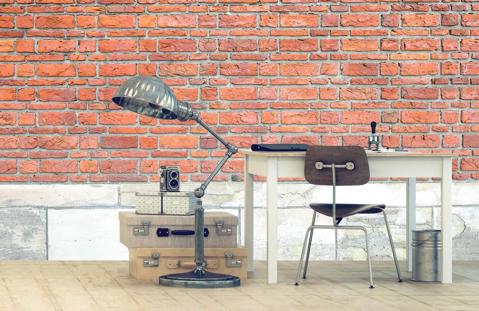 Steen behang - Bakstenen met oud beton - Wallexclusive - Slaapkamer 12